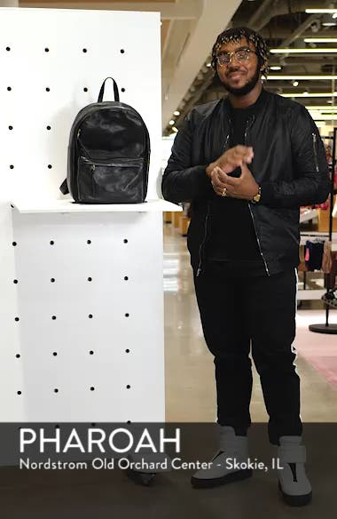 Lorimer Leather Backpack, sales video thumbnail