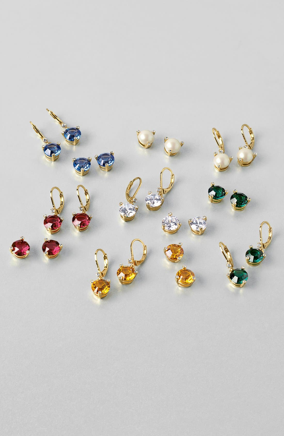 KATE SPADE NEW YORK, 'rise and shine' stud earrings, Alternate thumbnail 2, color, JET
