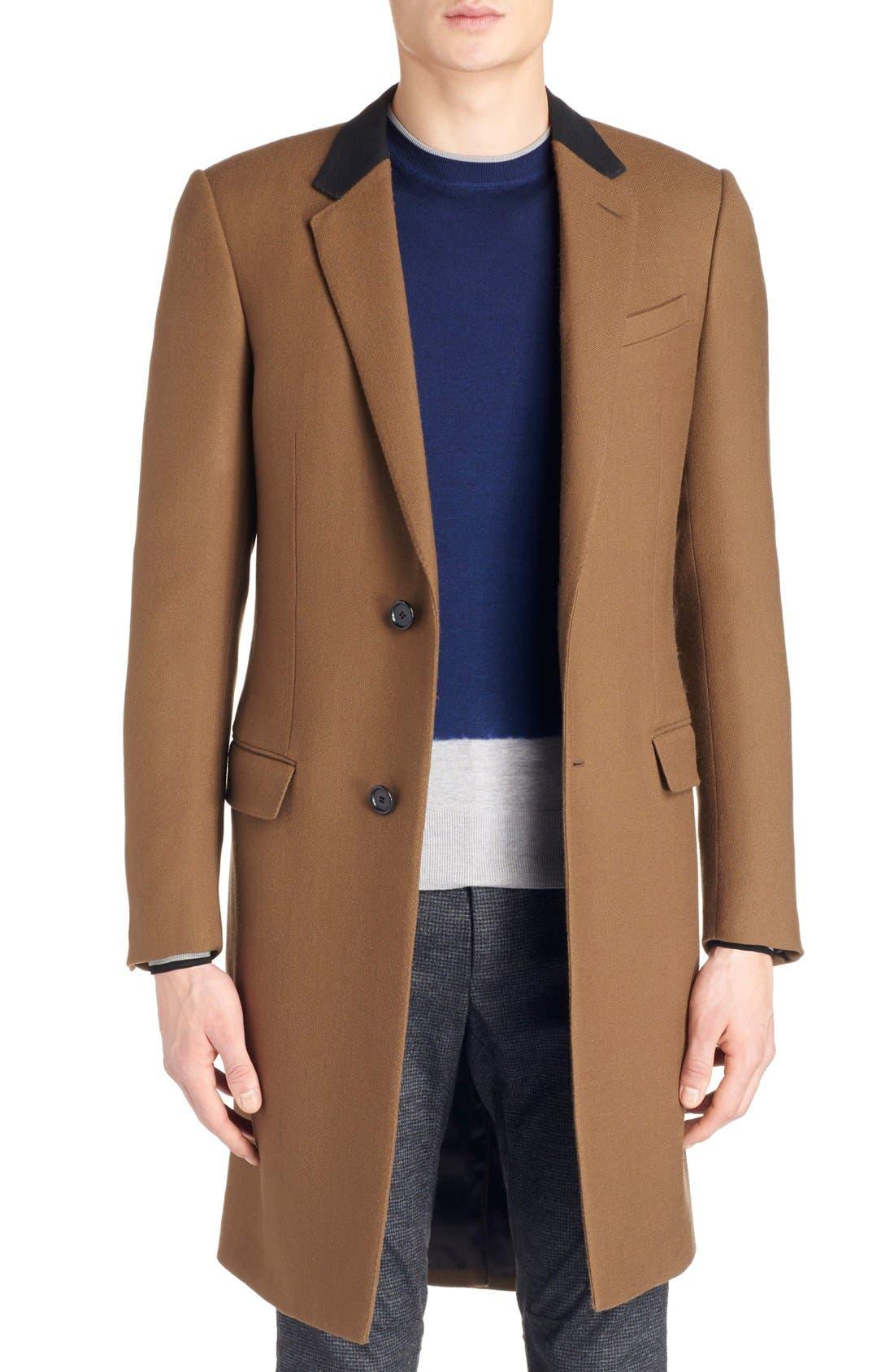LANVIN, Wool Overcoat, Main thumbnail 1, color, 230