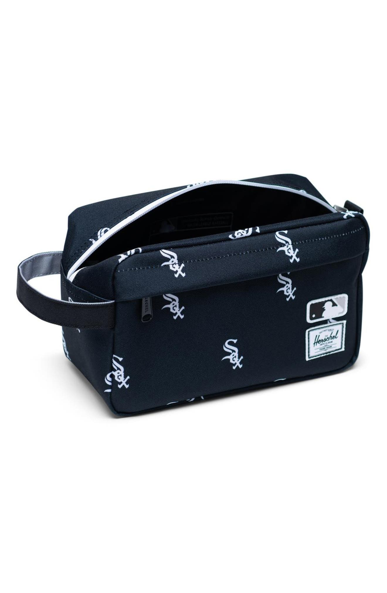 HERSCHEL SUPPLY CO., Chapter - MLB Outfield Dopp Kit, Alternate thumbnail 2, color, CHICAGO WHITE SOX