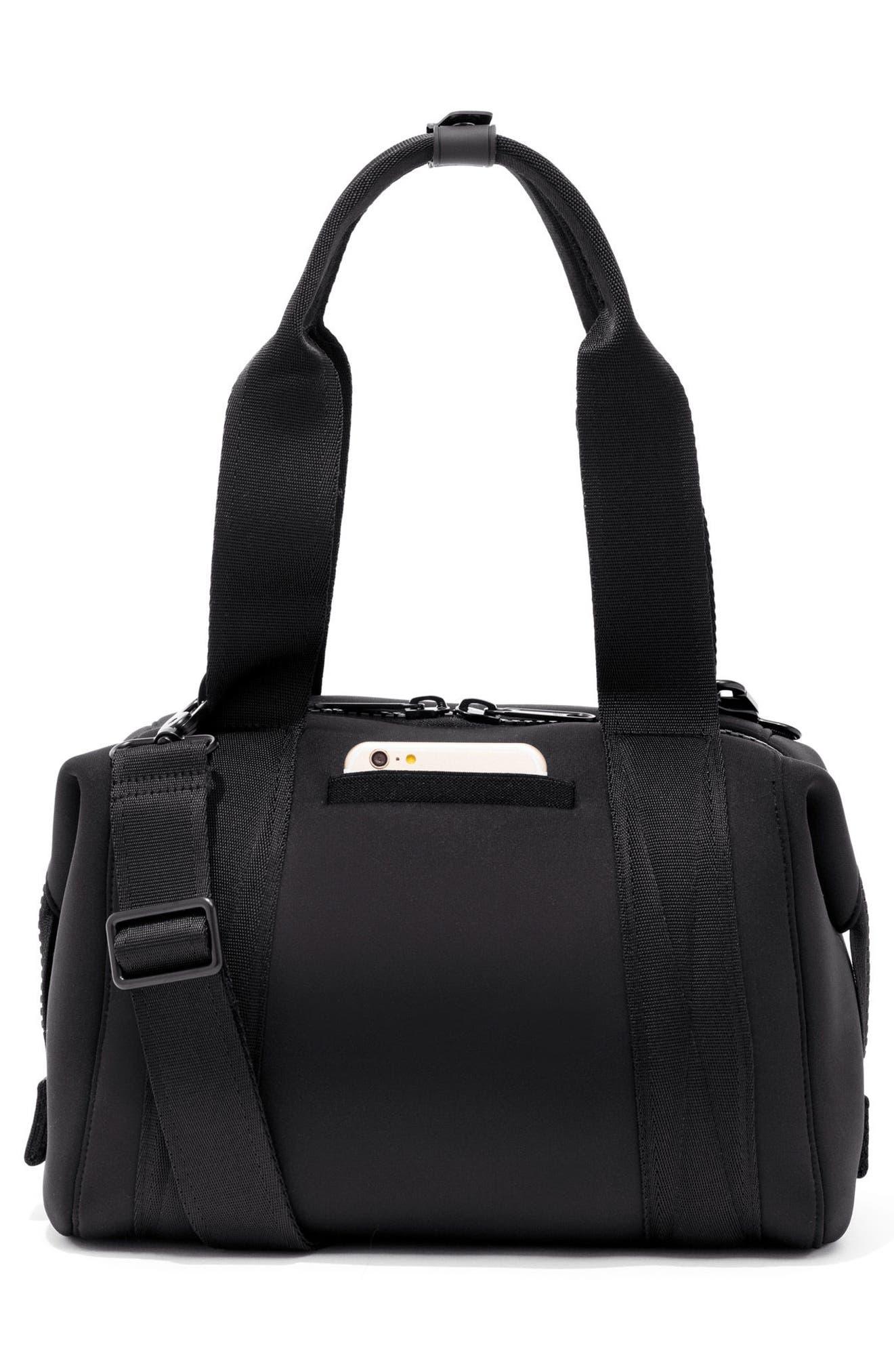 DAGNE DOVER, 365 Small Landon Carryall Duffle Bag, Alternate thumbnail 2, color, ONYX