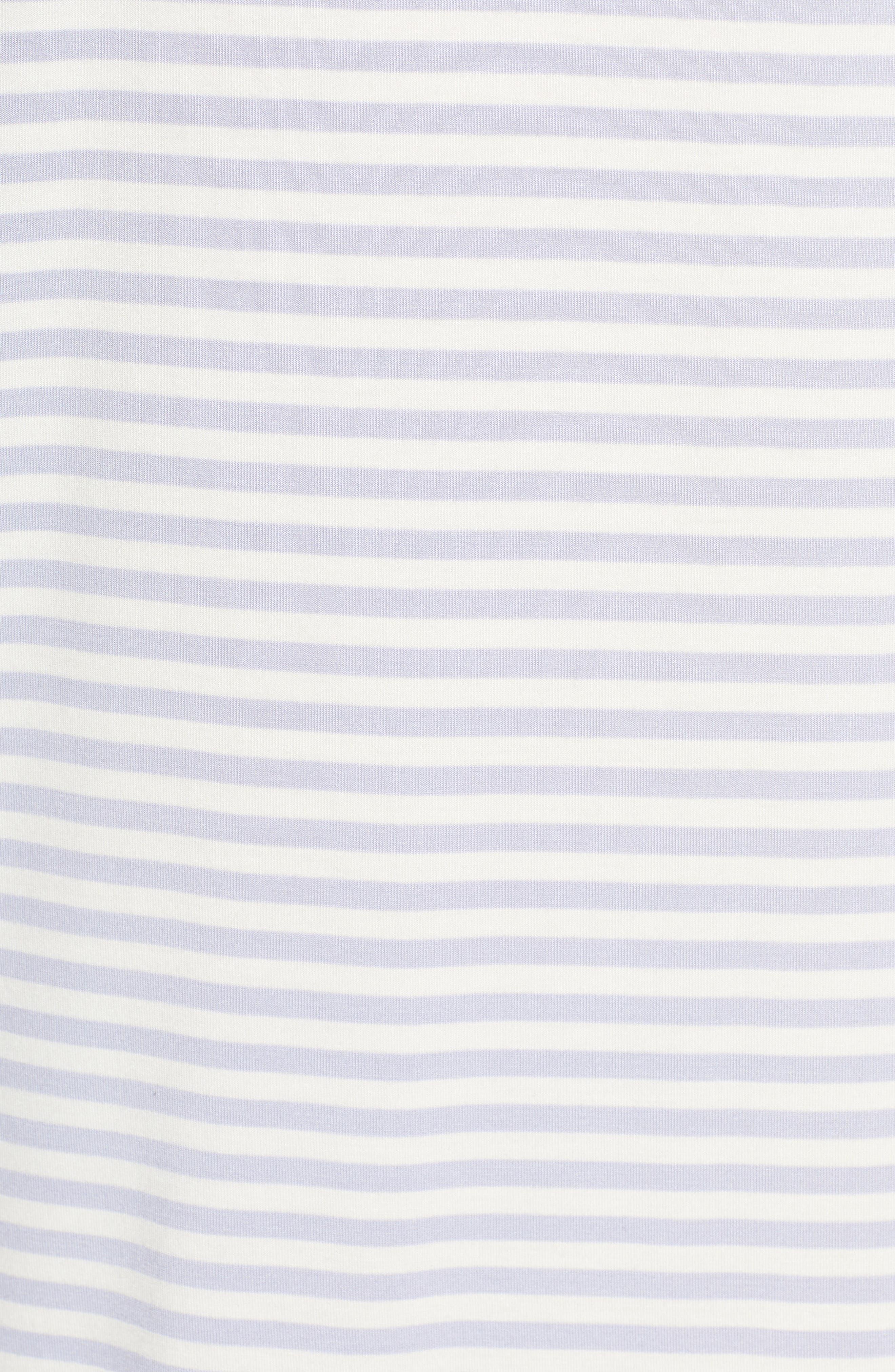 NORDSTROM LINGERIE, Moonlight Sleep Shirt, Alternate thumbnail 5, color, PURPLE COSMIC EVEN STRIPE