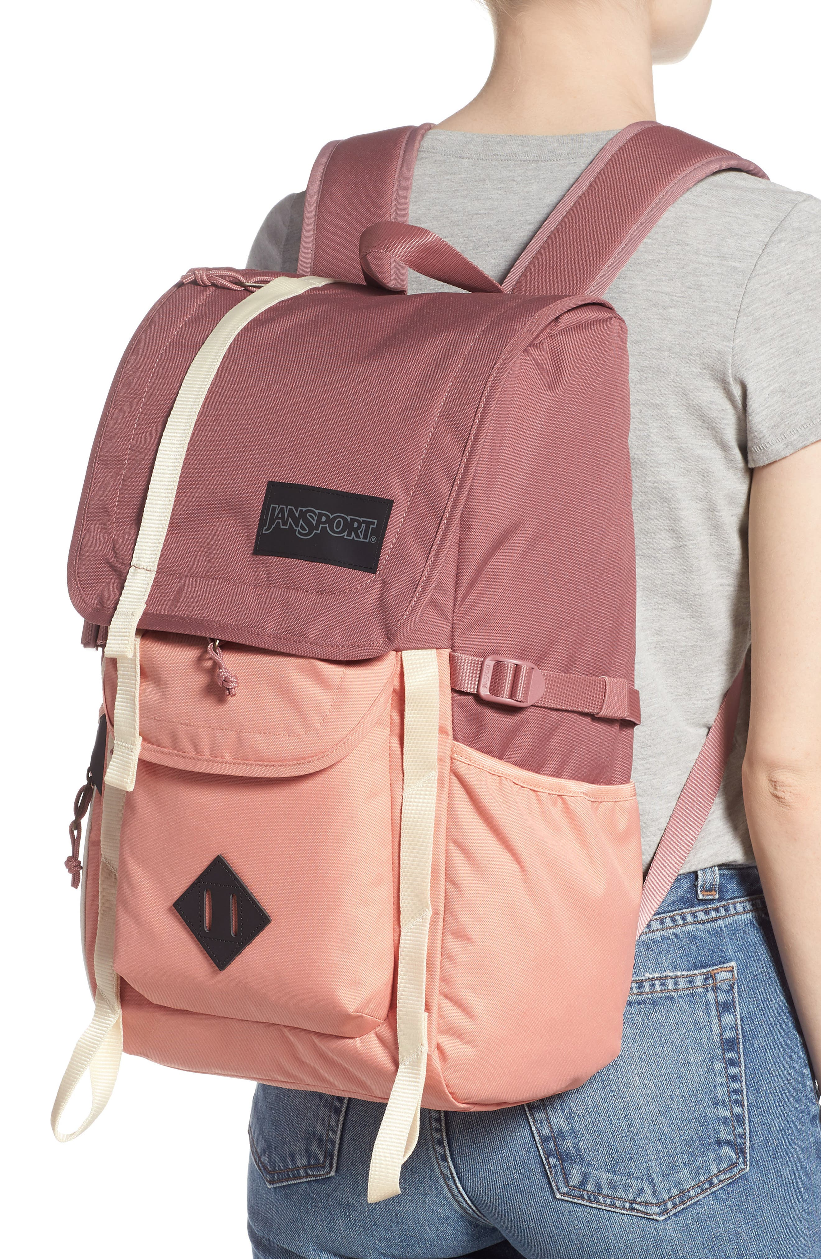 JANSPORT, Hatchet Backpack, Alternate thumbnail 2, color, MOCHA/ CLAY