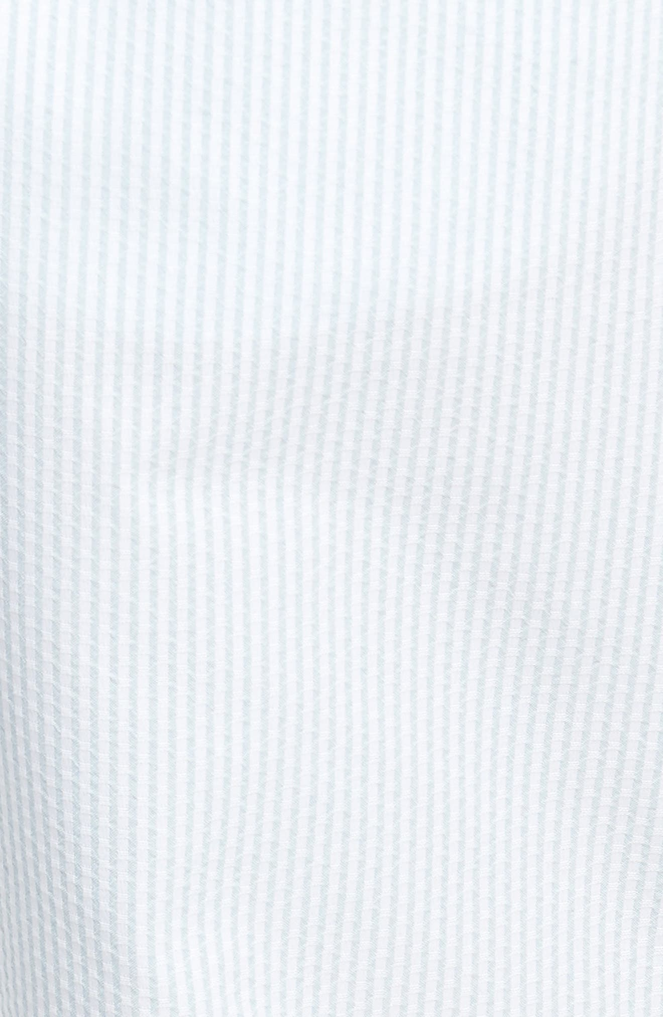 ADIDAS ORIGINALS, Seersucker Track Pants, Alternate thumbnail 6, color, ASH GREY/ WHITE