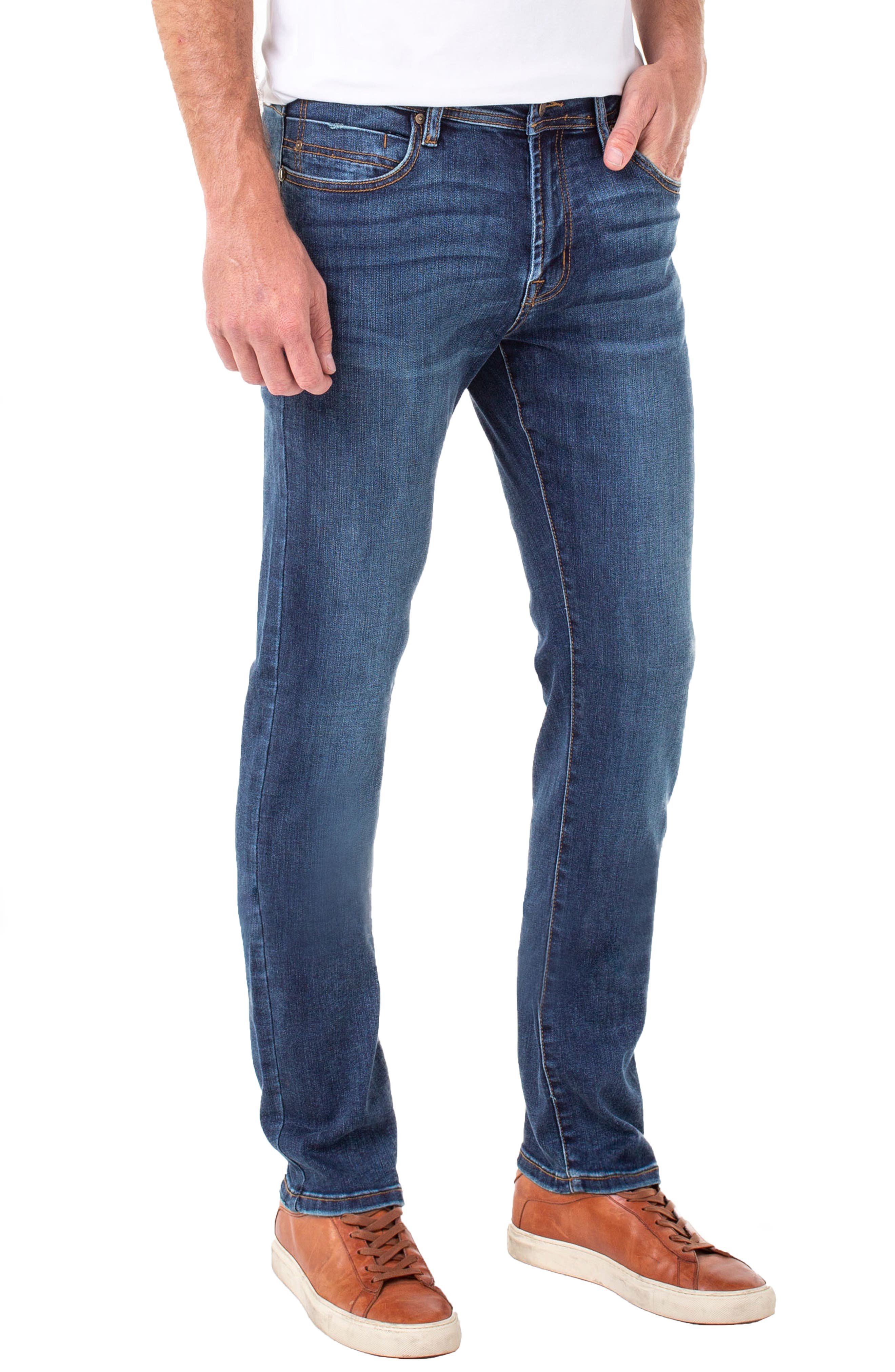 LIVERPOOL, Regent Relaxed Straight Leg Jeans, Alternate thumbnail 3, color, ADVENT