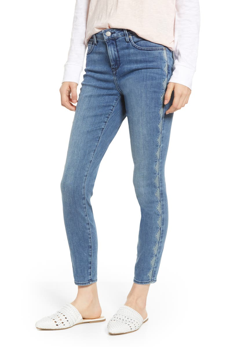 Nydj Jeans AMI IKATTILE EMBROIDERED SIDE STRETCH SKINNY JEANS