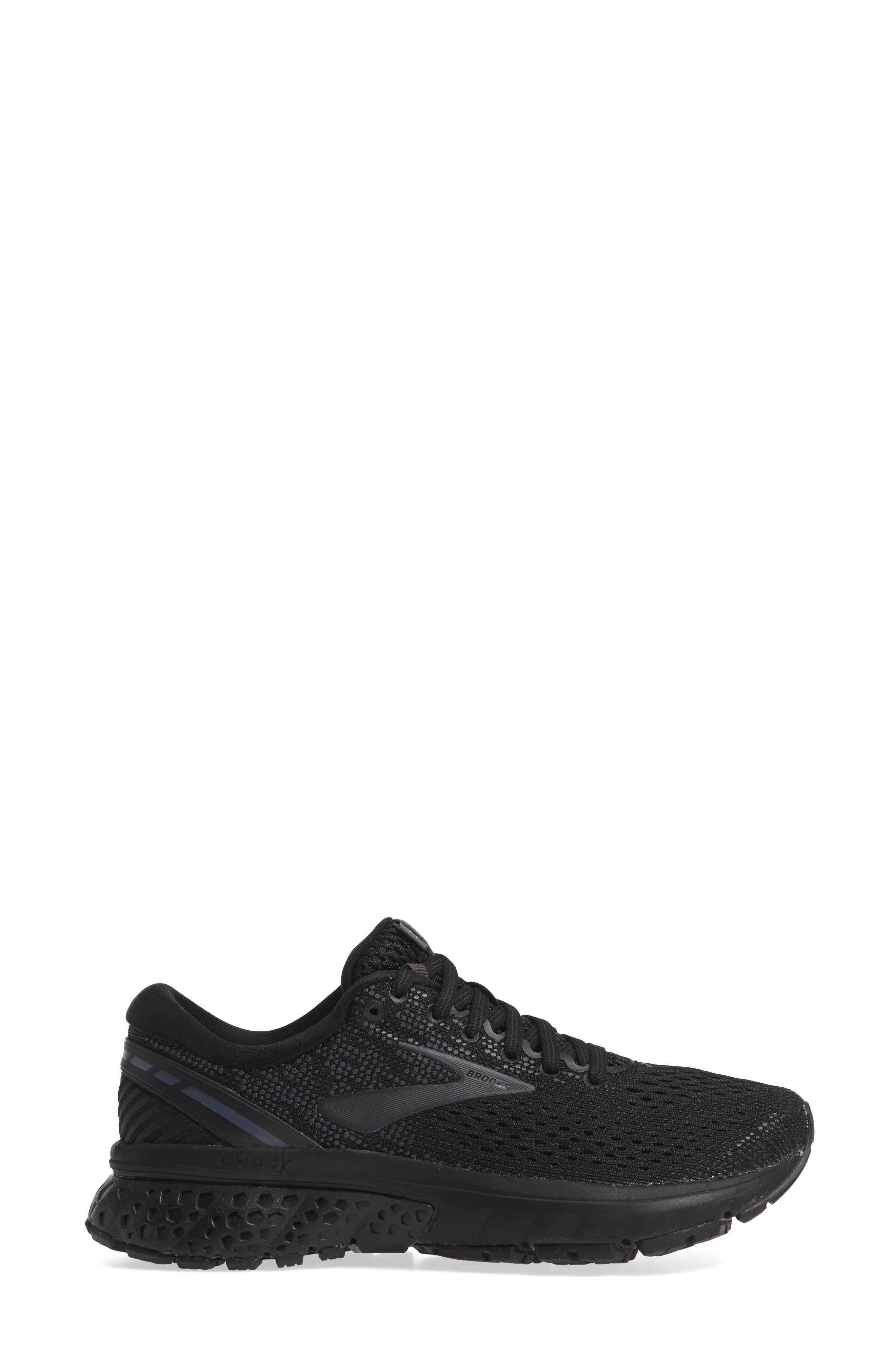 BROOKS, Ghost 11 Running Shoe, Alternate thumbnail 3, color, BLACK/ EBONY