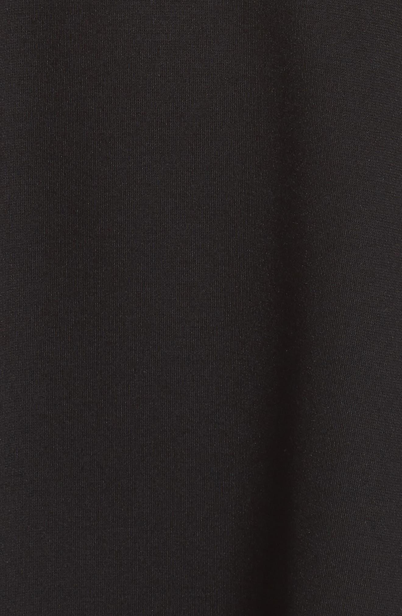 LULUS, Love Galore Skater Dress, Alternate thumbnail 6, color, 001