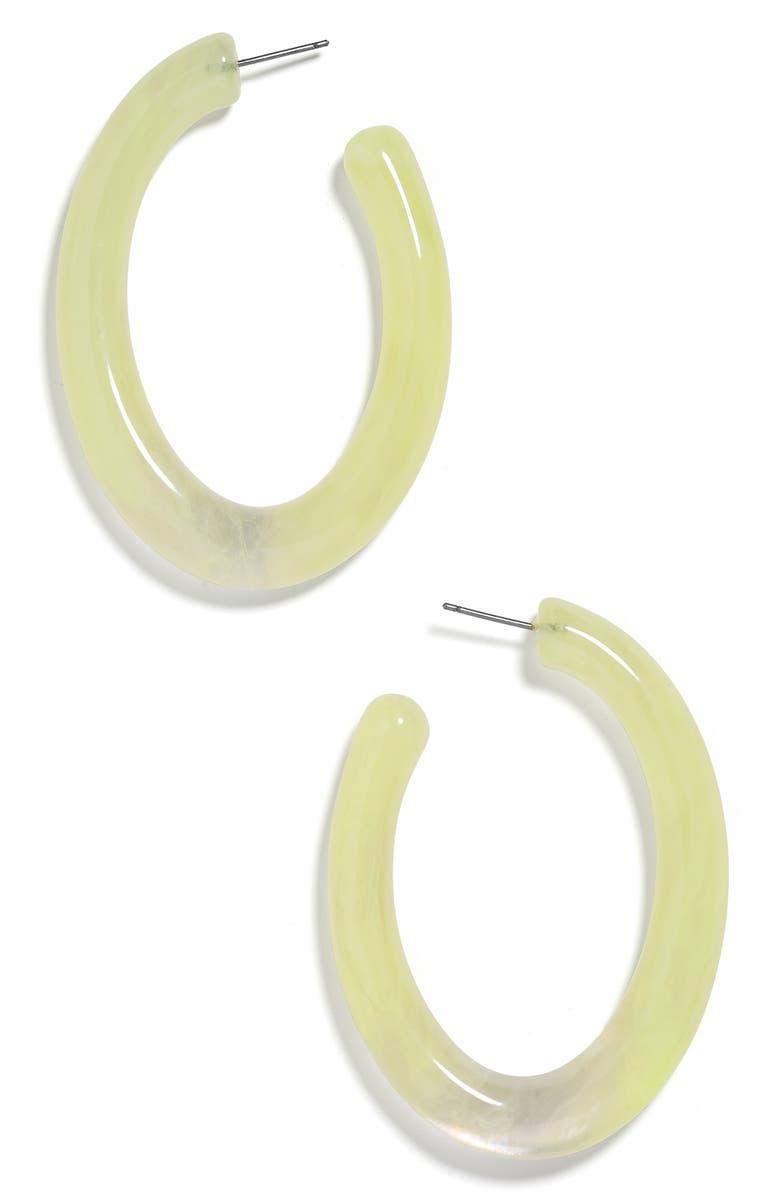 Baublebar Accessories SELENNE OVAL HOOP EARRINGS