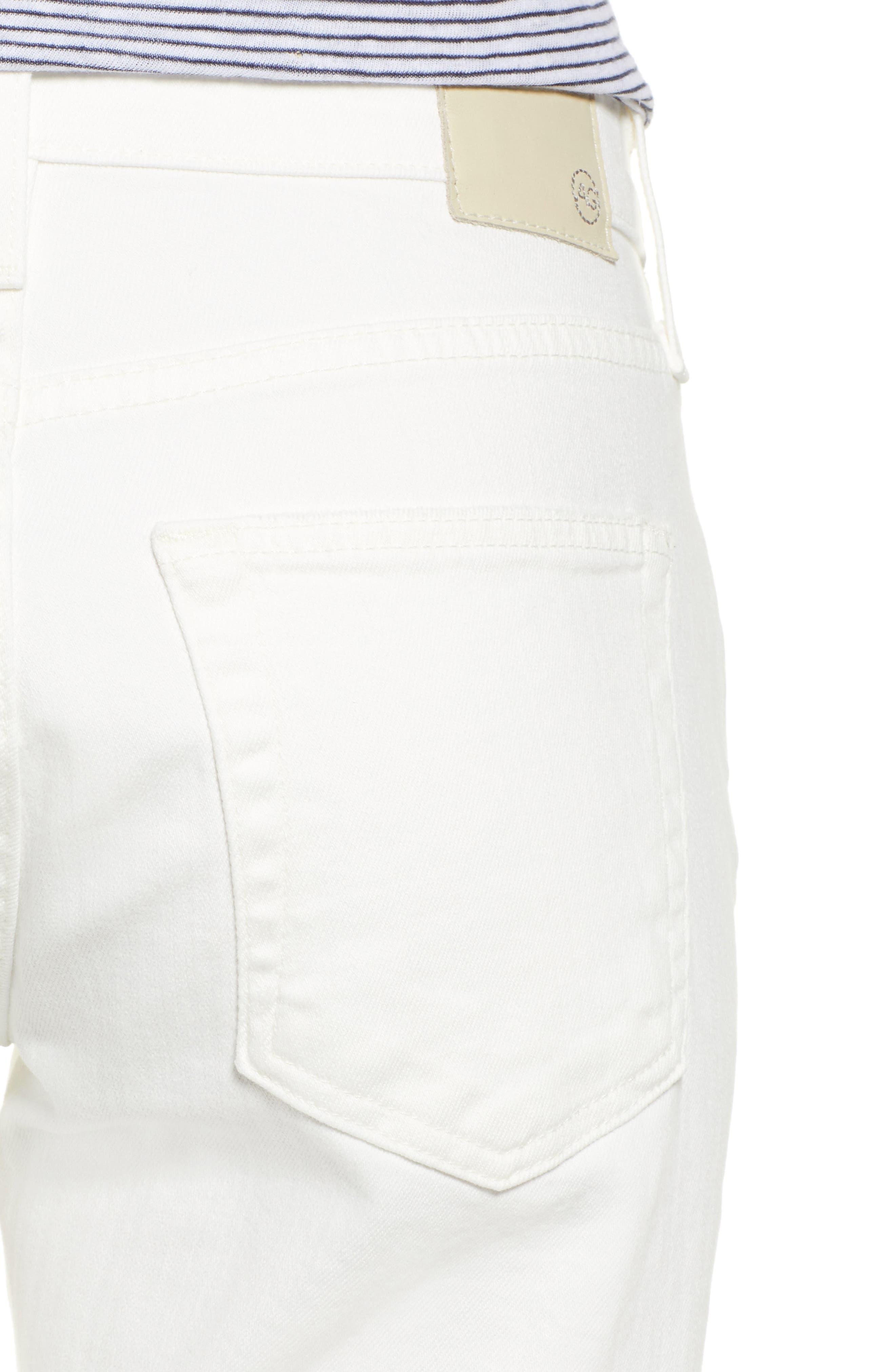 AG, The Ex-Boyfriend Crop Slim Jeans, Alternate thumbnail 5, color, 01Y TONAL WHITE