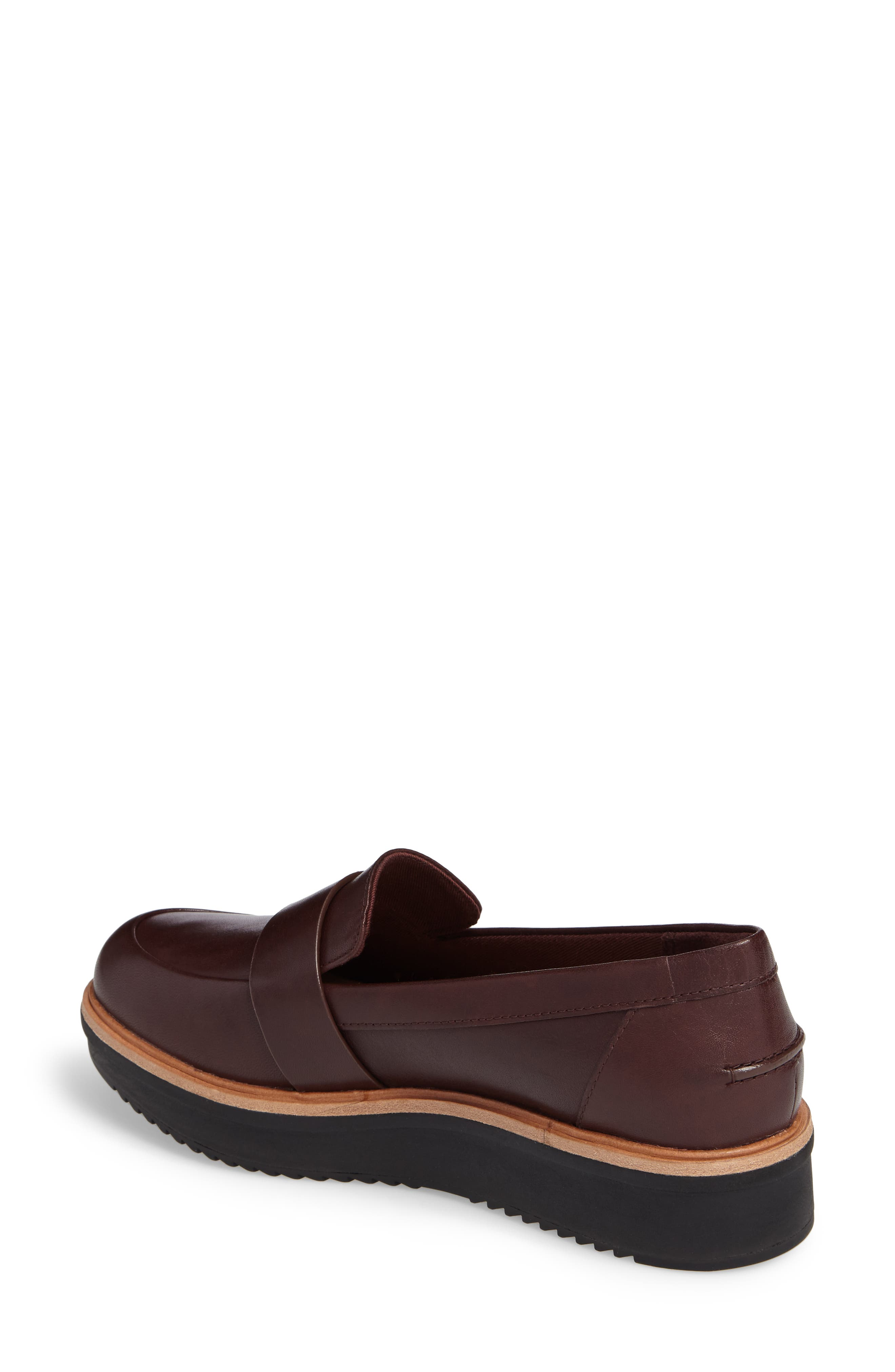 CLARKS<SUP>®</SUP>, Teadale Elsa Loafer, Alternate thumbnail 2, color, BURGUNDY LEATHER