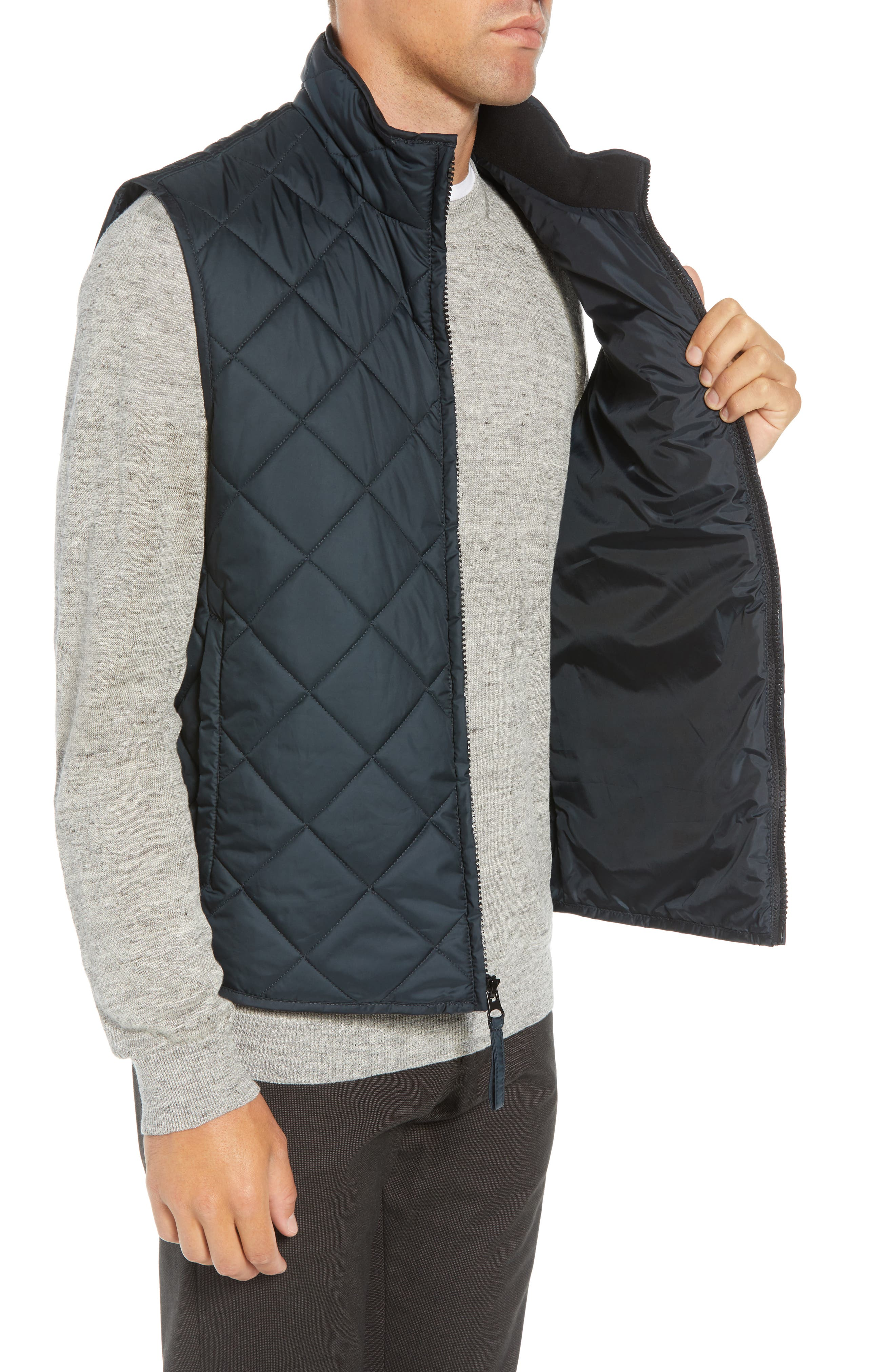MARC NEW YORK, Chester Packable Quilted Vest, Alternate thumbnail 4, color, BLACK