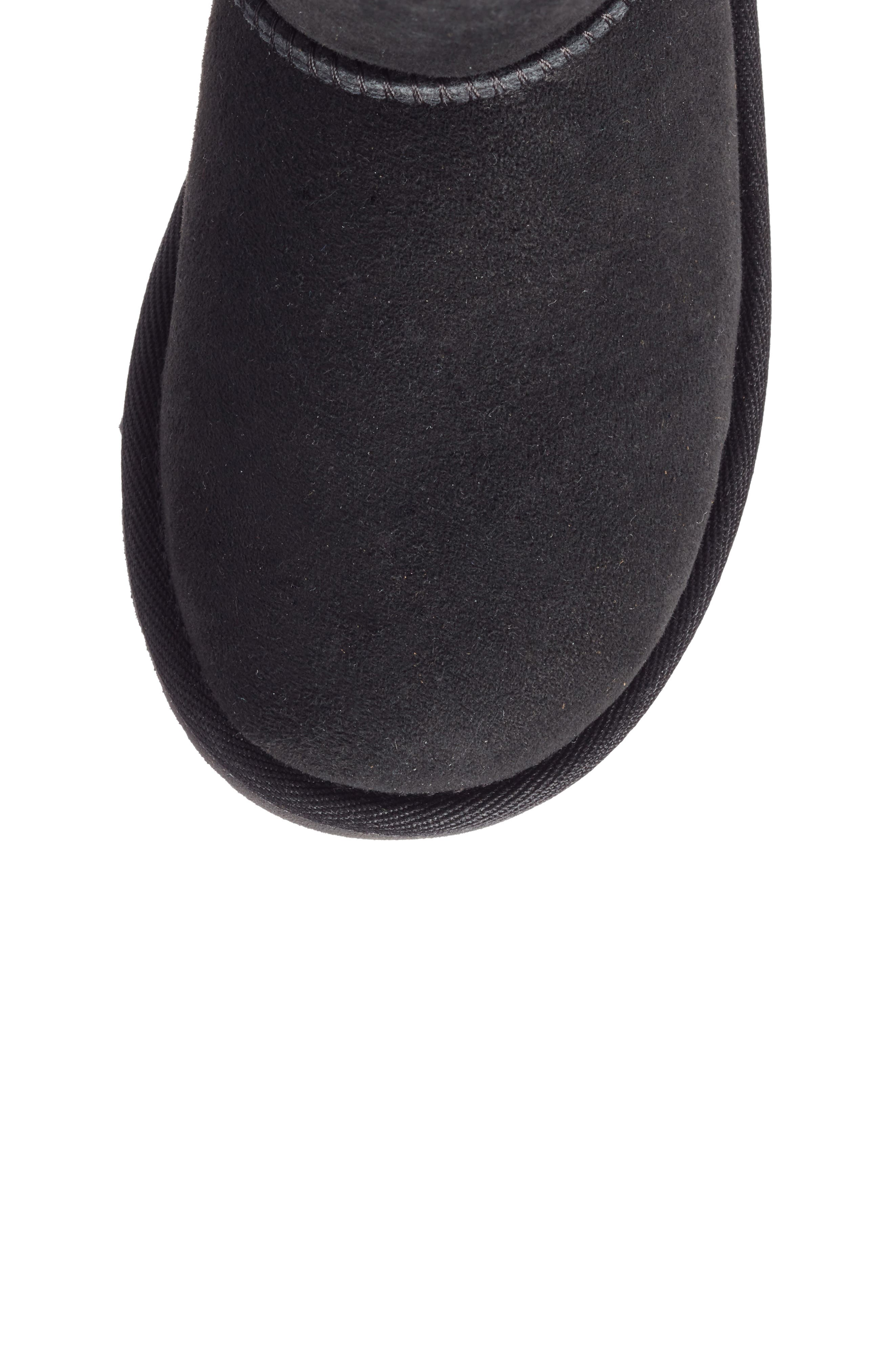 UGG<SUP>®</SUP>, Bailey Button II Water Resistant Genuine Shearling Boot, Alternate thumbnail 5, color, BLACK SUEDE