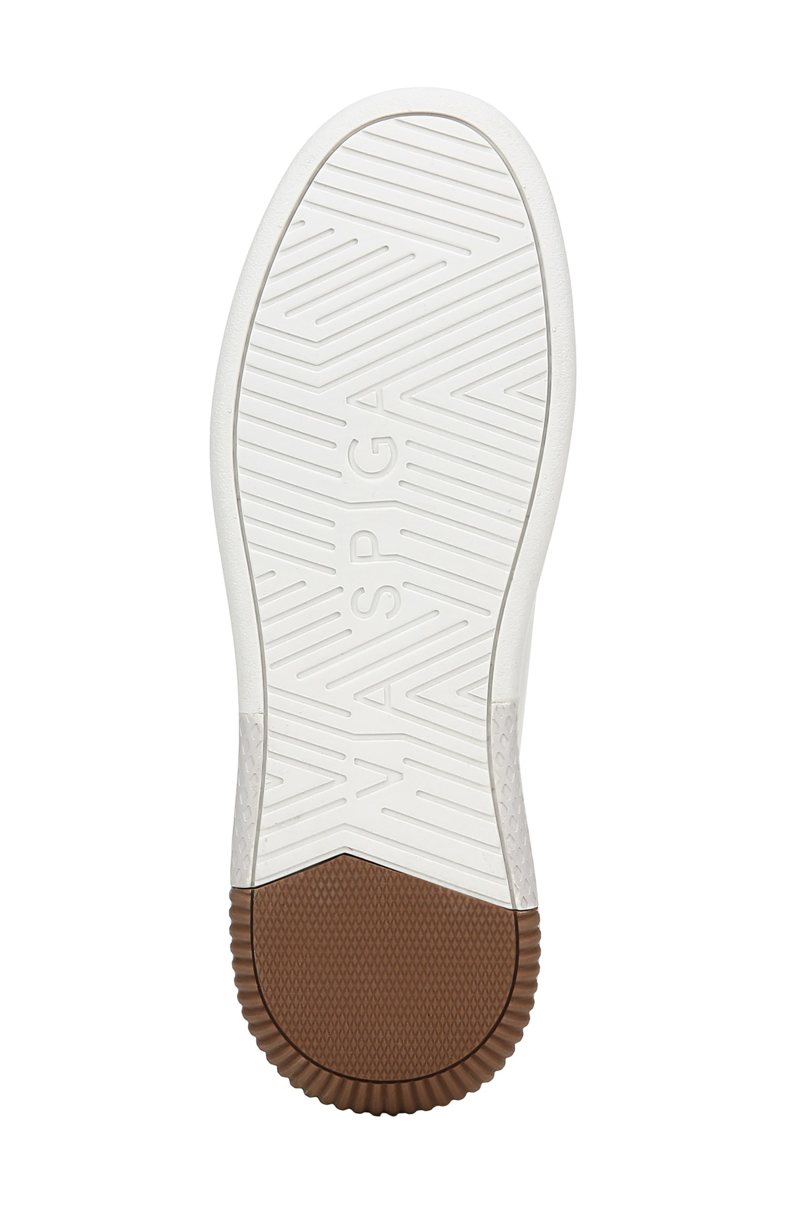 VIA SPIGA, Parrel Sneaker, Alternate thumbnail 6, color, PORCELAIN/ SILVER
