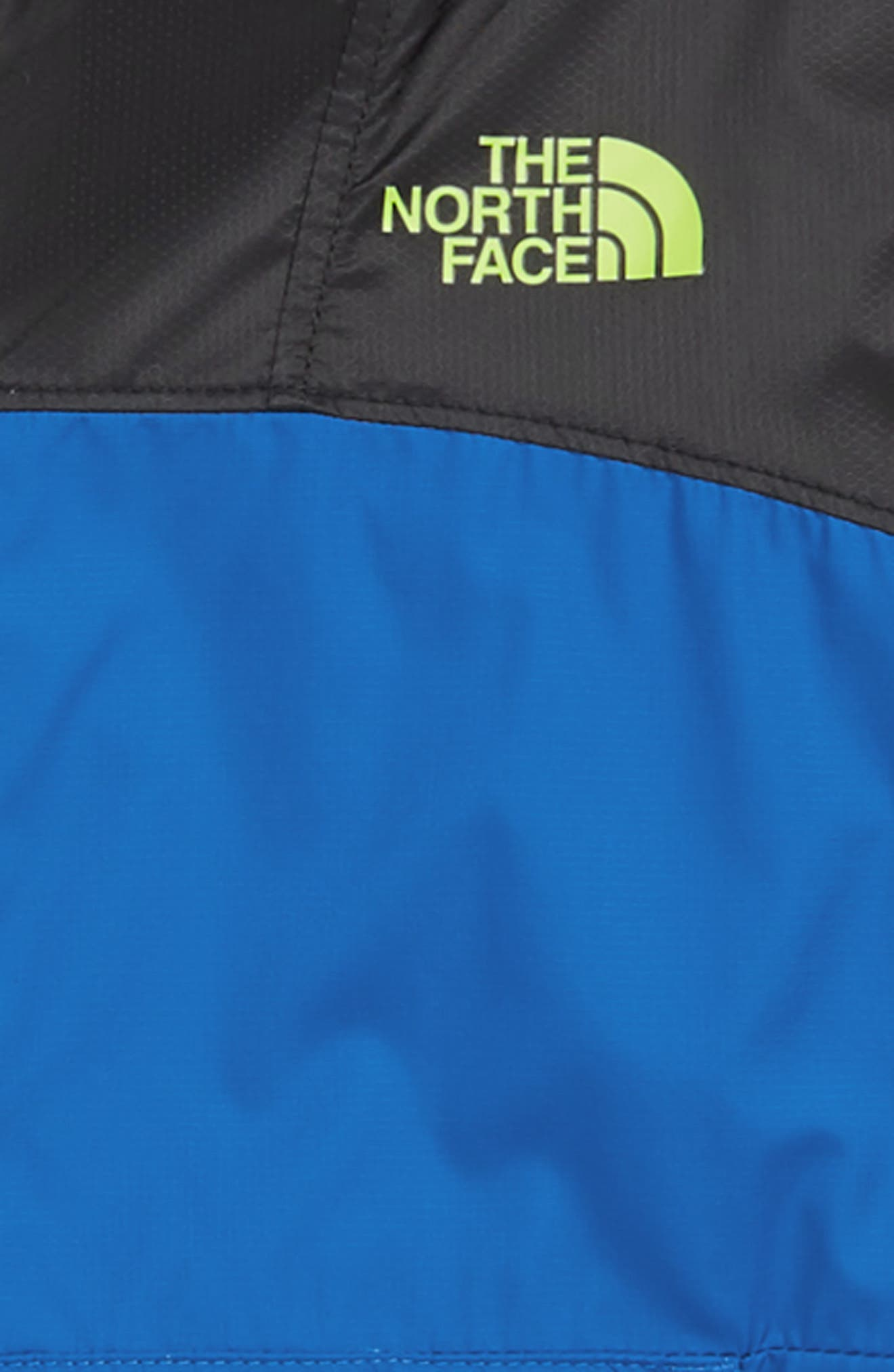 THE NORTH FACE, Fanorak Water Repellent Hooded Windbreaker, Alternate thumbnail 3, color, TURKISH SEA