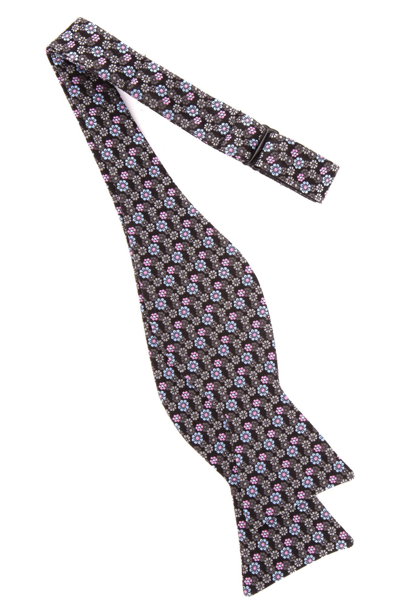 TED BAKER LONDON, Floral Silk Bow Tie, Alternate thumbnail 2, color, CHARCOAL
