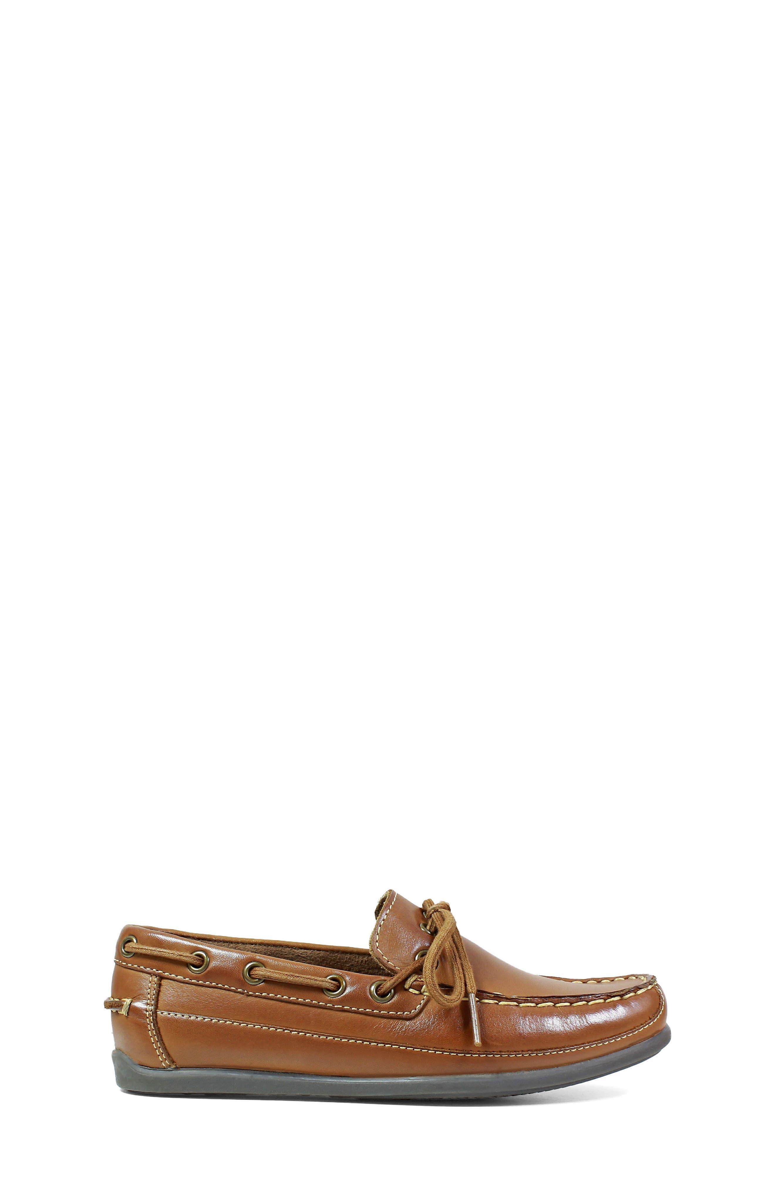 FLORSHEIM, Jasper Boat Shoe, Alternate thumbnail 3, color, SADDLE TAN
