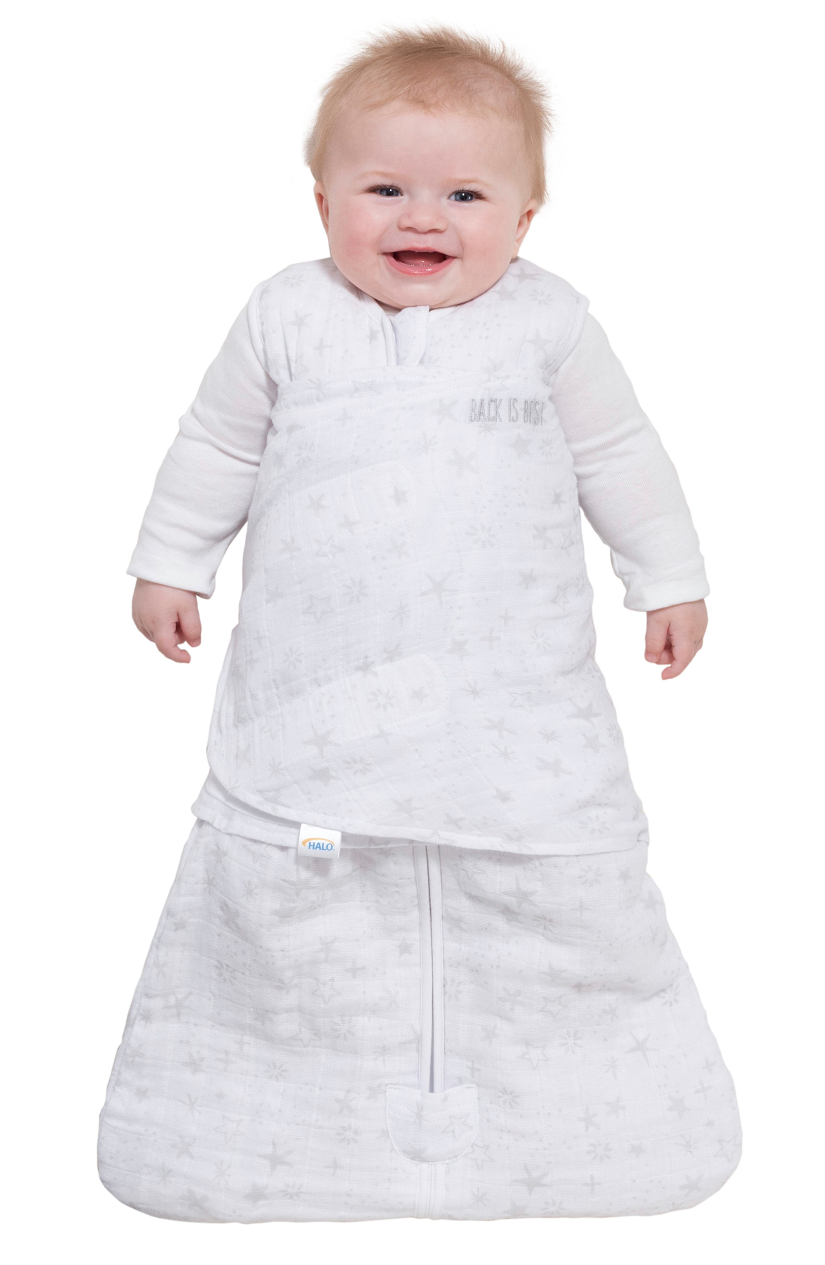 HALO<SUP>®</SUP>, Platinum Series SleepSack<sup>™</sup> Quilted Swaddle, Alternate thumbnail 8, color, GREY CONSTELLATION