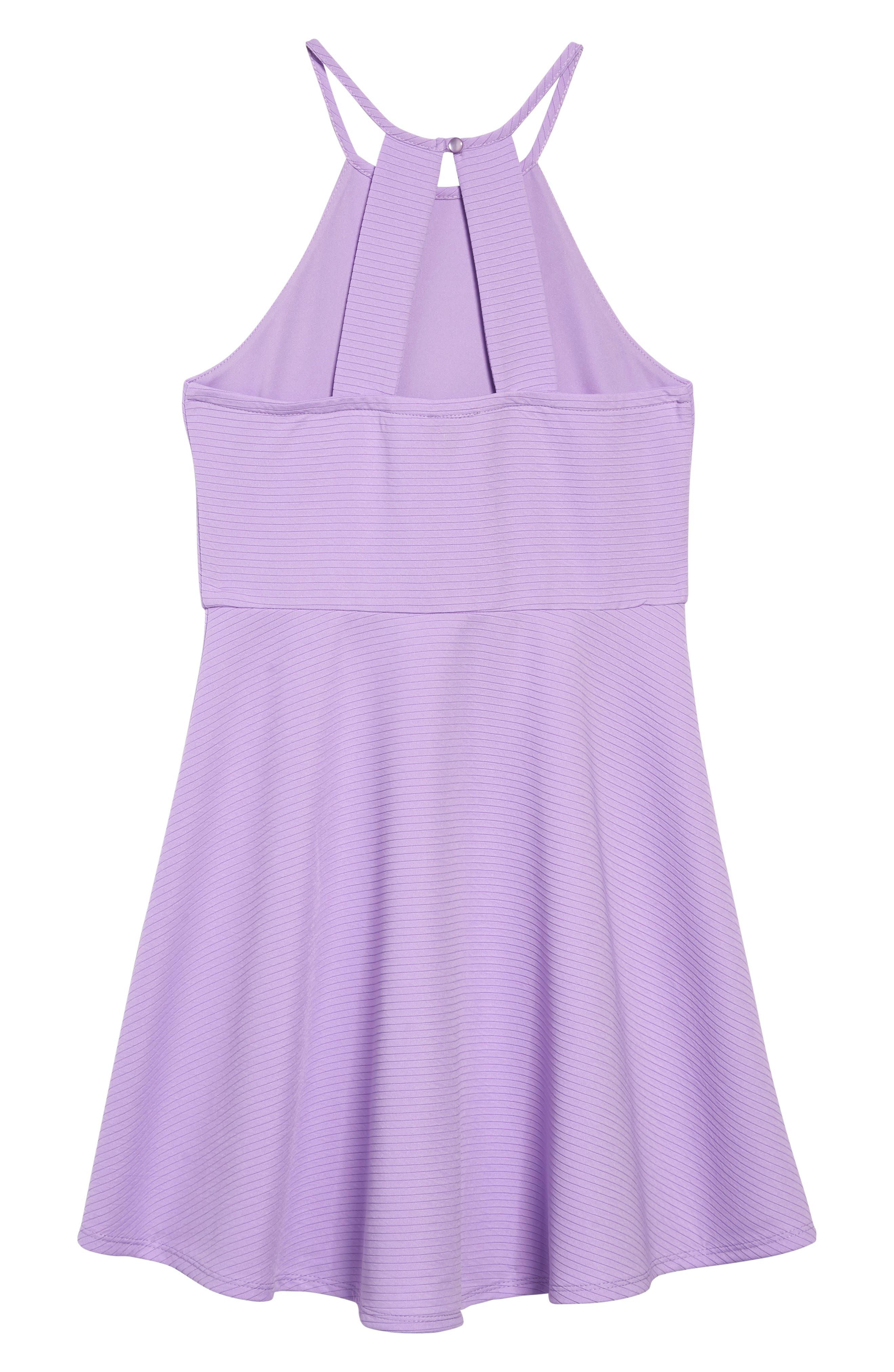 ZUNIE, Textured Skater Dress, Alternate thumbnail 2, color, LILAC