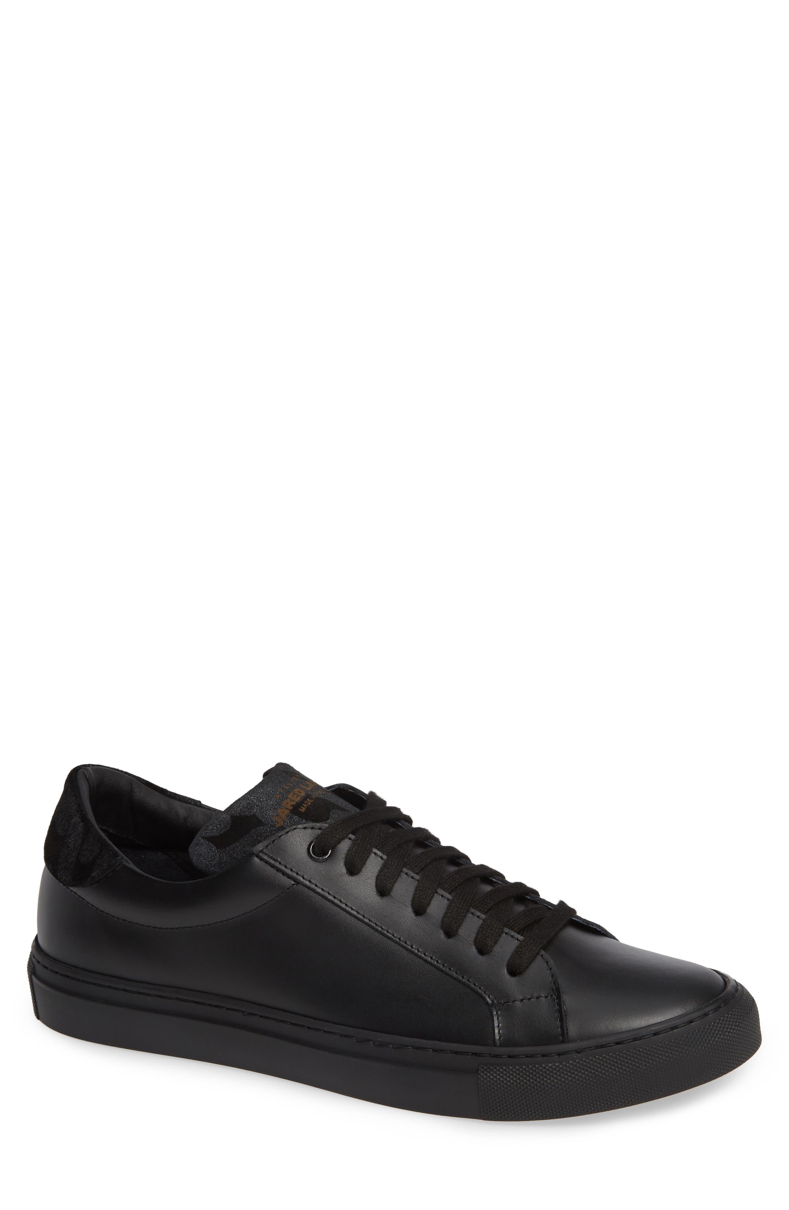 JARED LANG Rome Sneaker, Main, color, BLACK