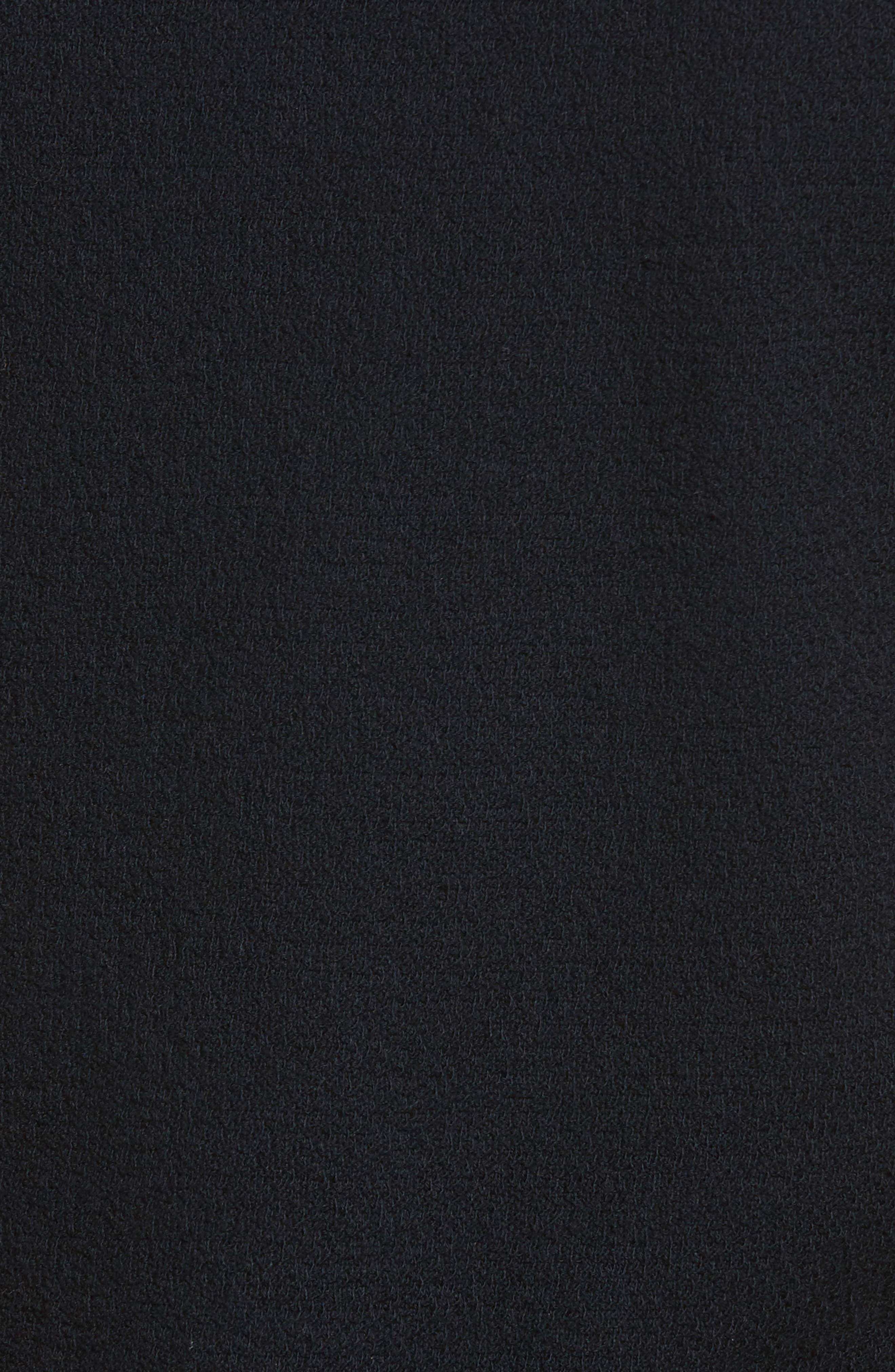 MADEWELL, Modern Tie Front Tee, Alternate thumbnail 6, color, TRUE BLACK