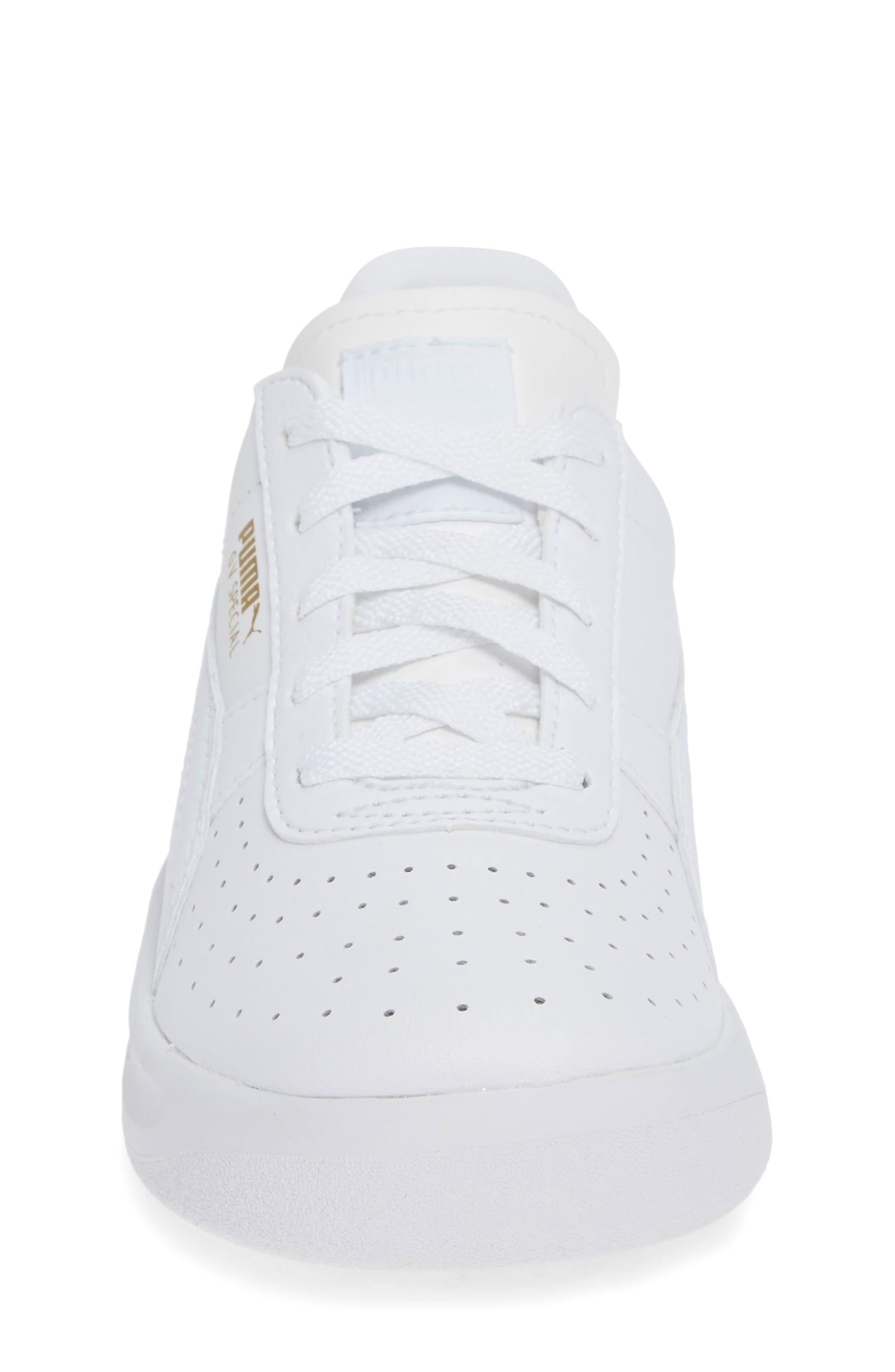 PUMA, 'GV Special' Sneaker, Alternate thumbnail 4, color, PUMA WHITE-PUMA TEAM GOLD