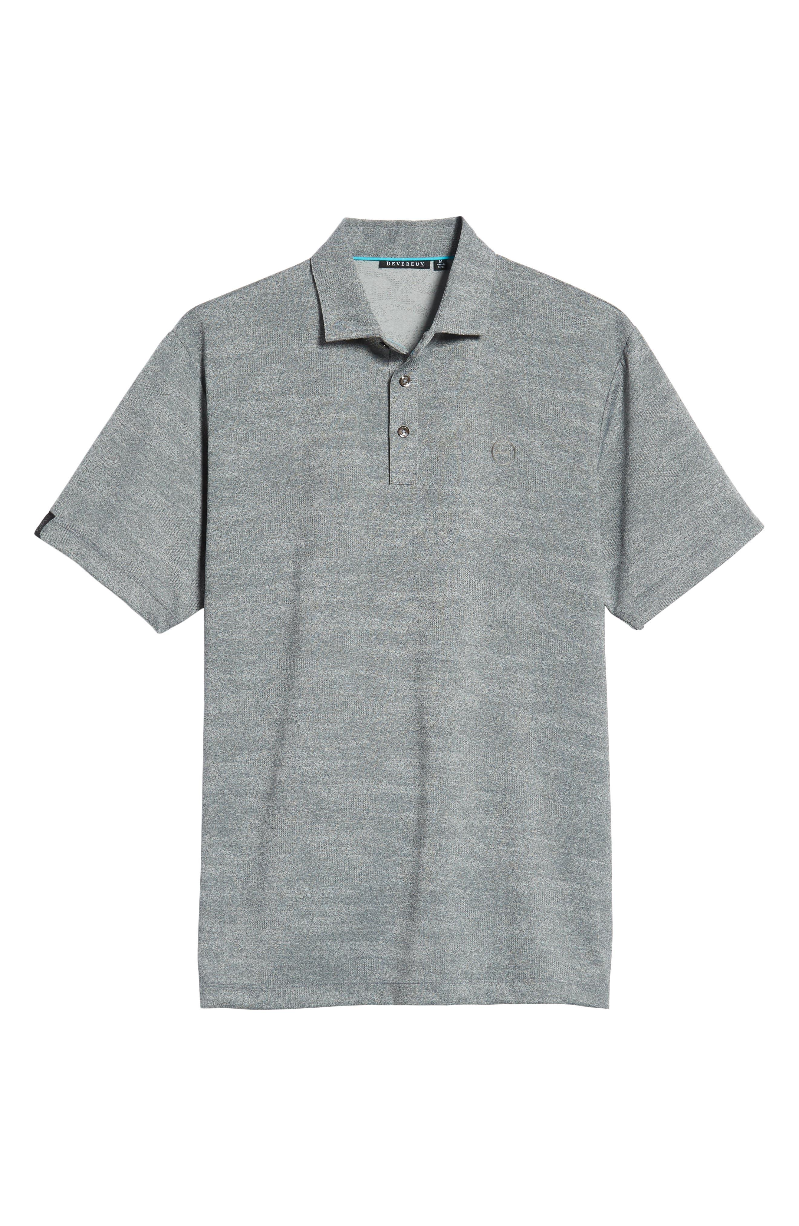 DEVEREUX, Monaco Regular Fit Polo, Alternate thumbnail 6, color, STEEL