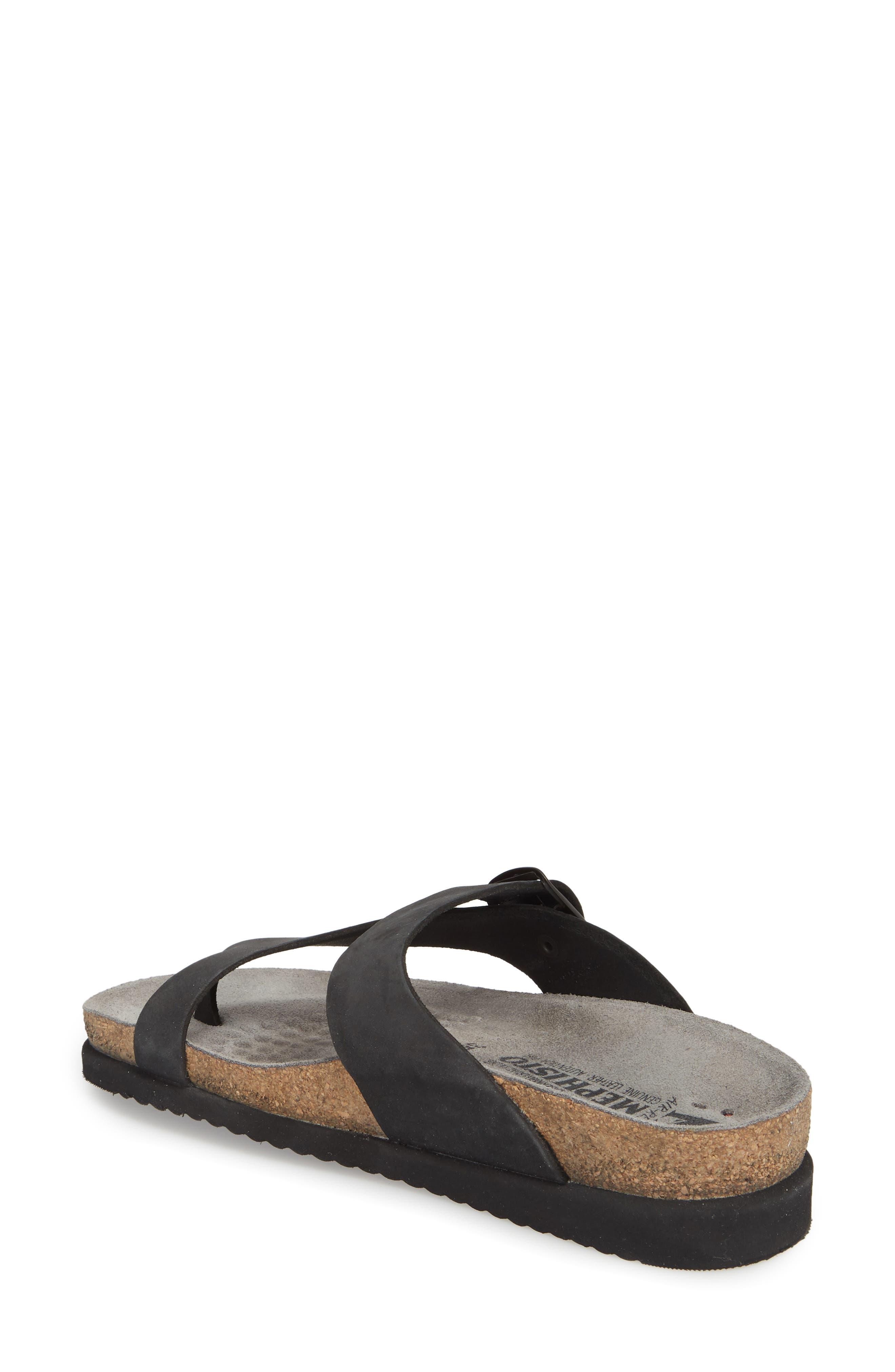 MEPHISTO, 'Helen' Sandal, Alternate thumbnail 2, color, BLACK NUBUCK