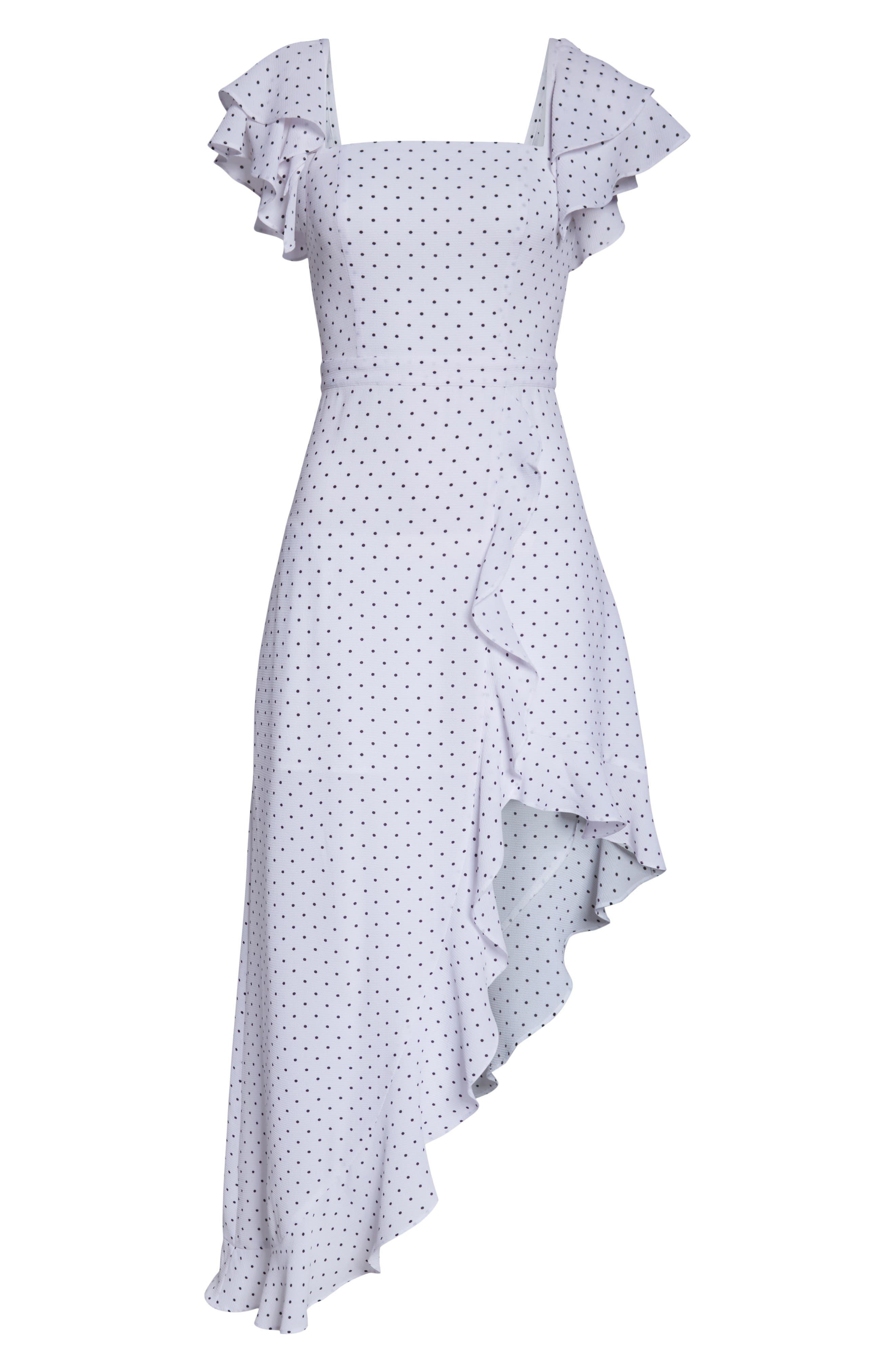 ALI & JAY, Terrace Time Polka Dot Maxi Dress, Alternate thumbnail 7, color, 100