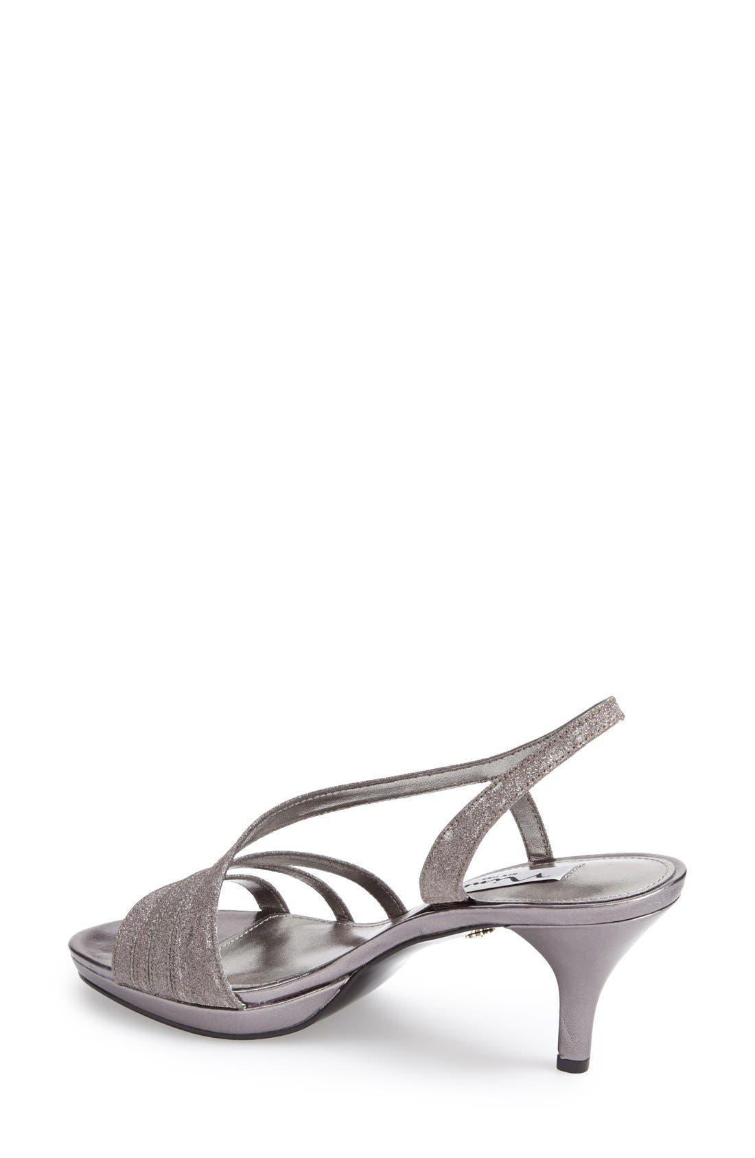 NINA, 'Neely' Slingback Platform Sandal, Alternate thumbnail 3, color, CHARCOAL