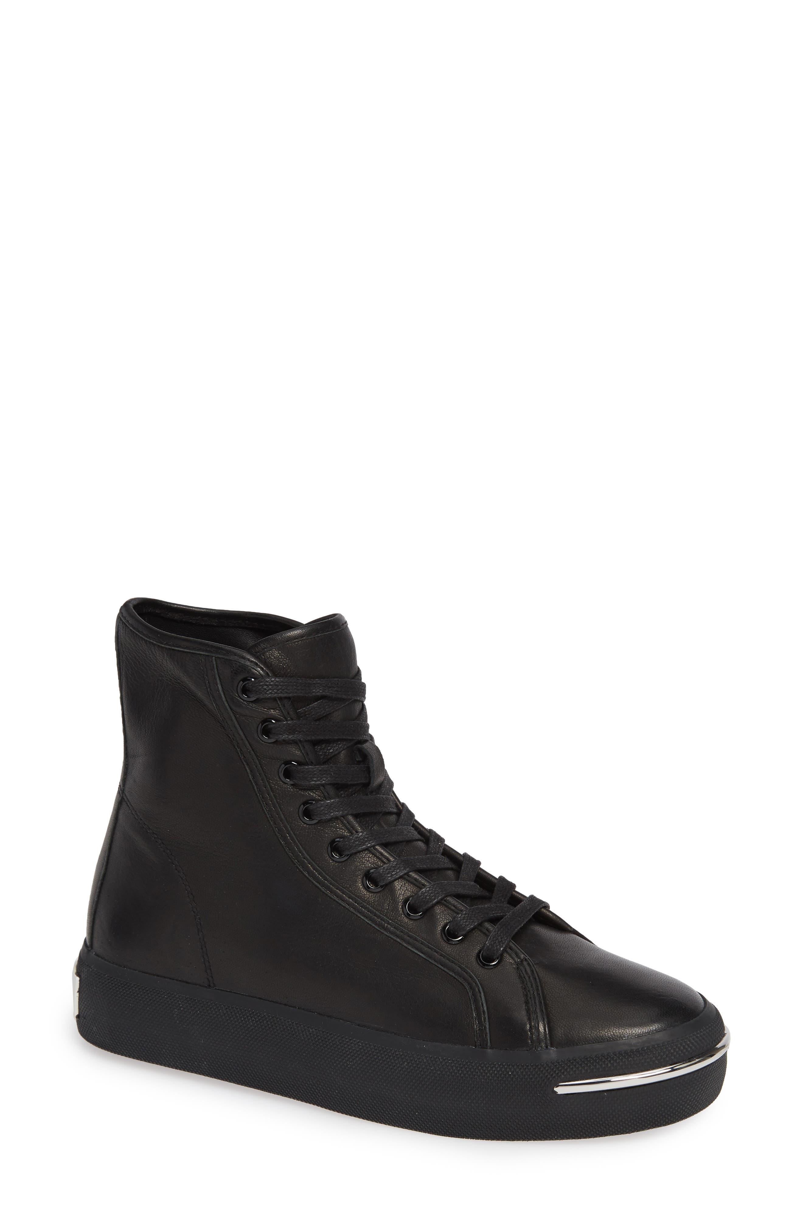 ALEXANDER WANG Pia High Top Sneaker, Main, color, BLACK