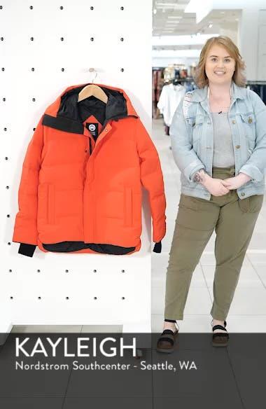 'MacMillan' Slim Fit Hooded Parka, sales video thumbnail