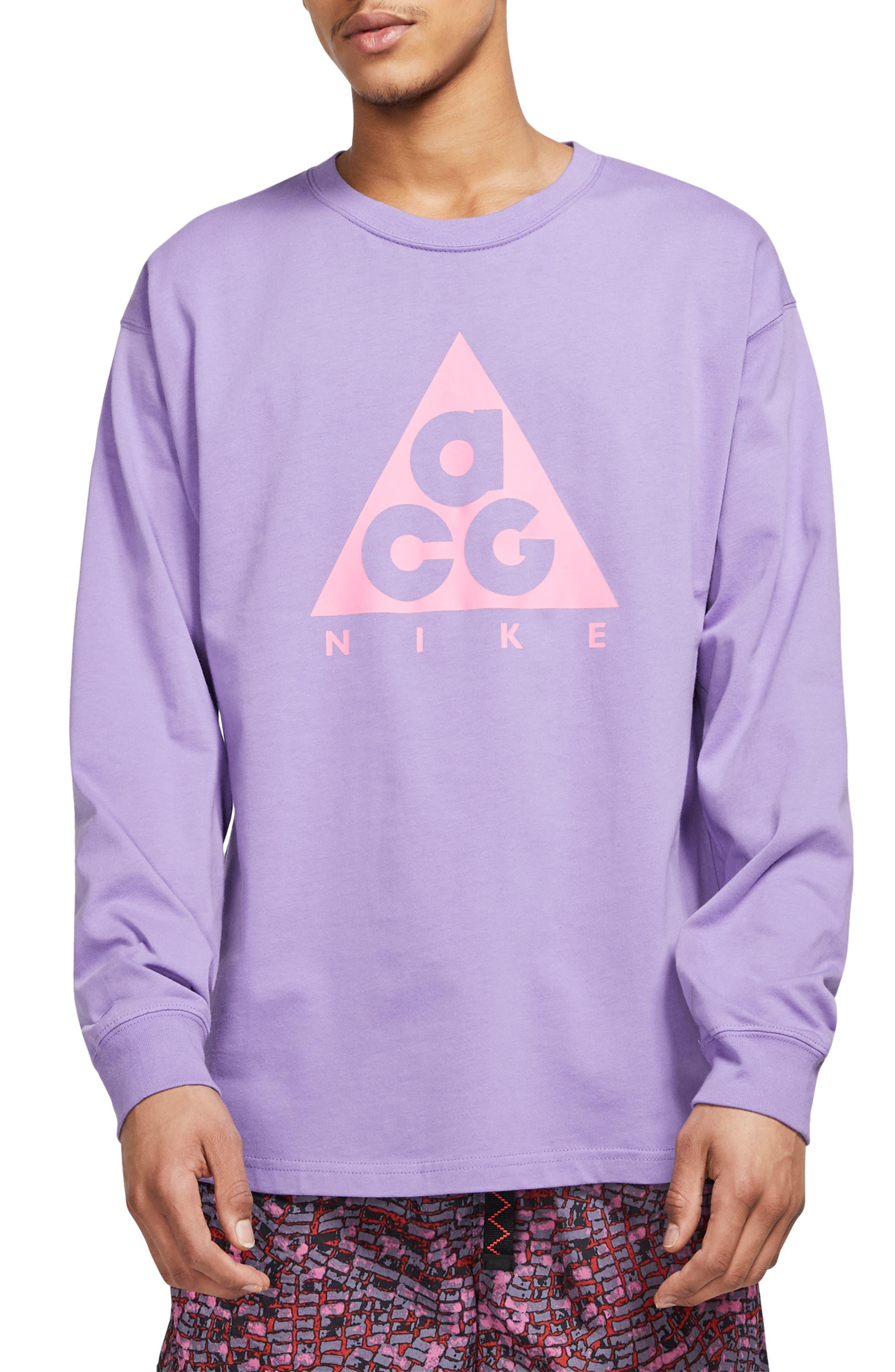 Nike Nrg All Conditions Gear Logo T-Shirt, Purple