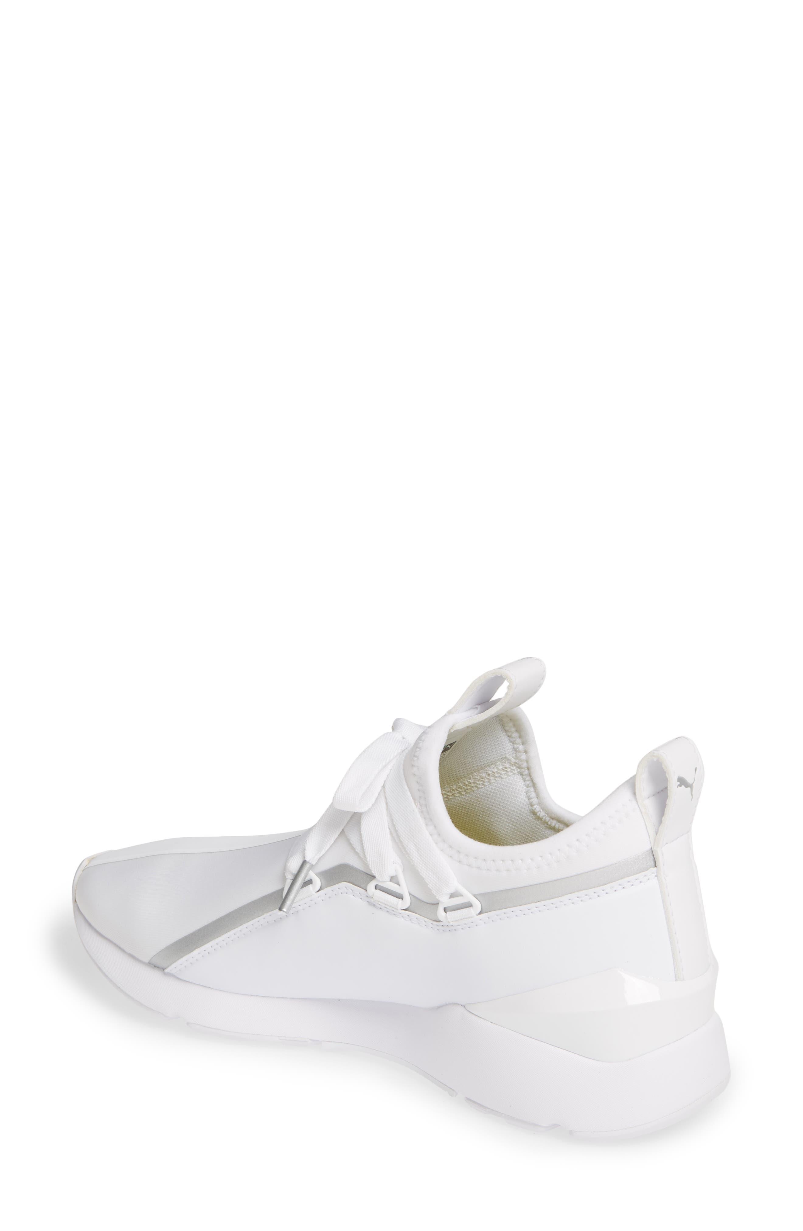 PUMA, Muse 2 Trailblazer Sneaker, Alternate thumbnail 2, color, WHITE/ SILVER