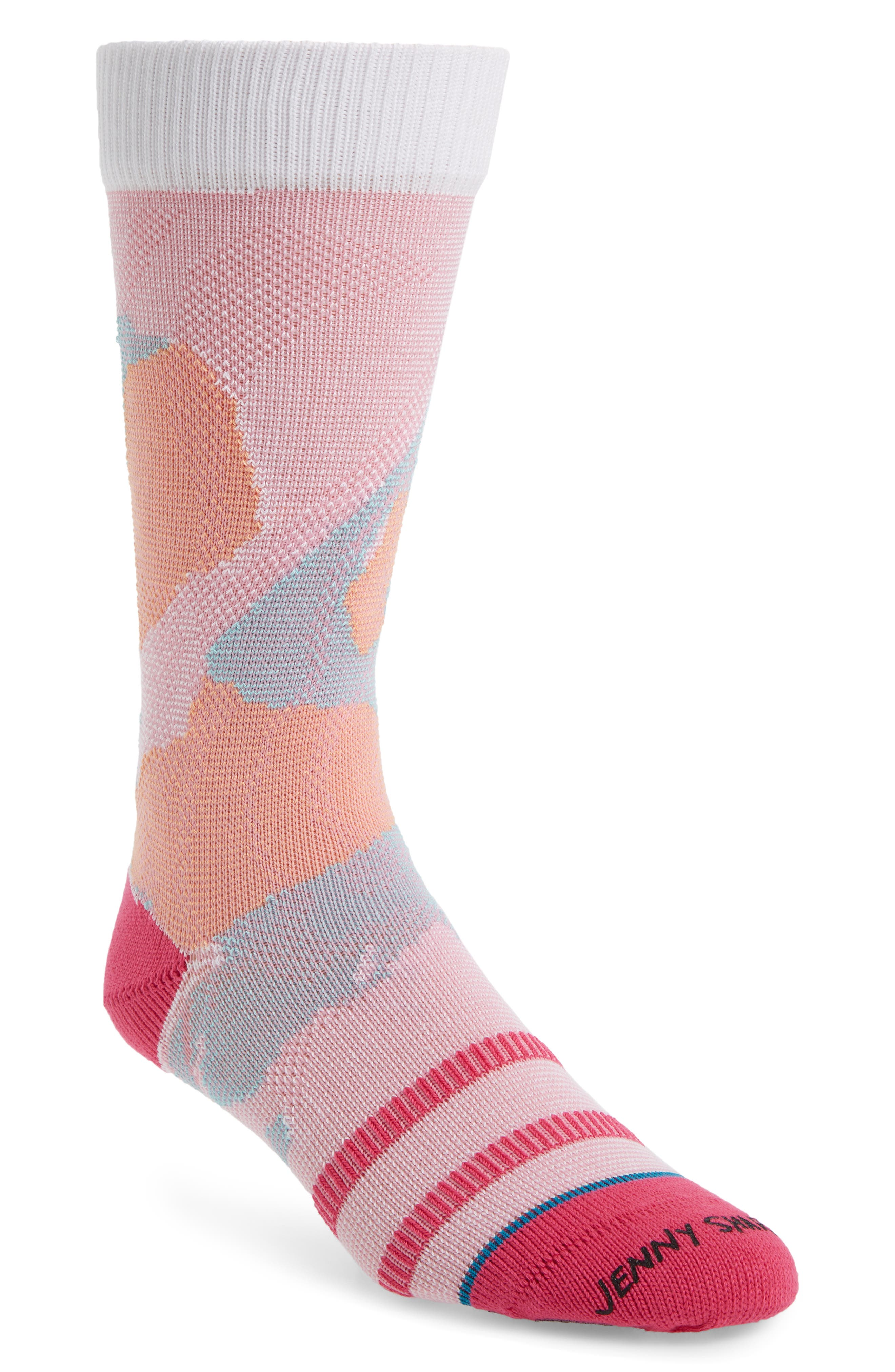 STANCE Wearing The Hues Socks, Main, color, WHITE
