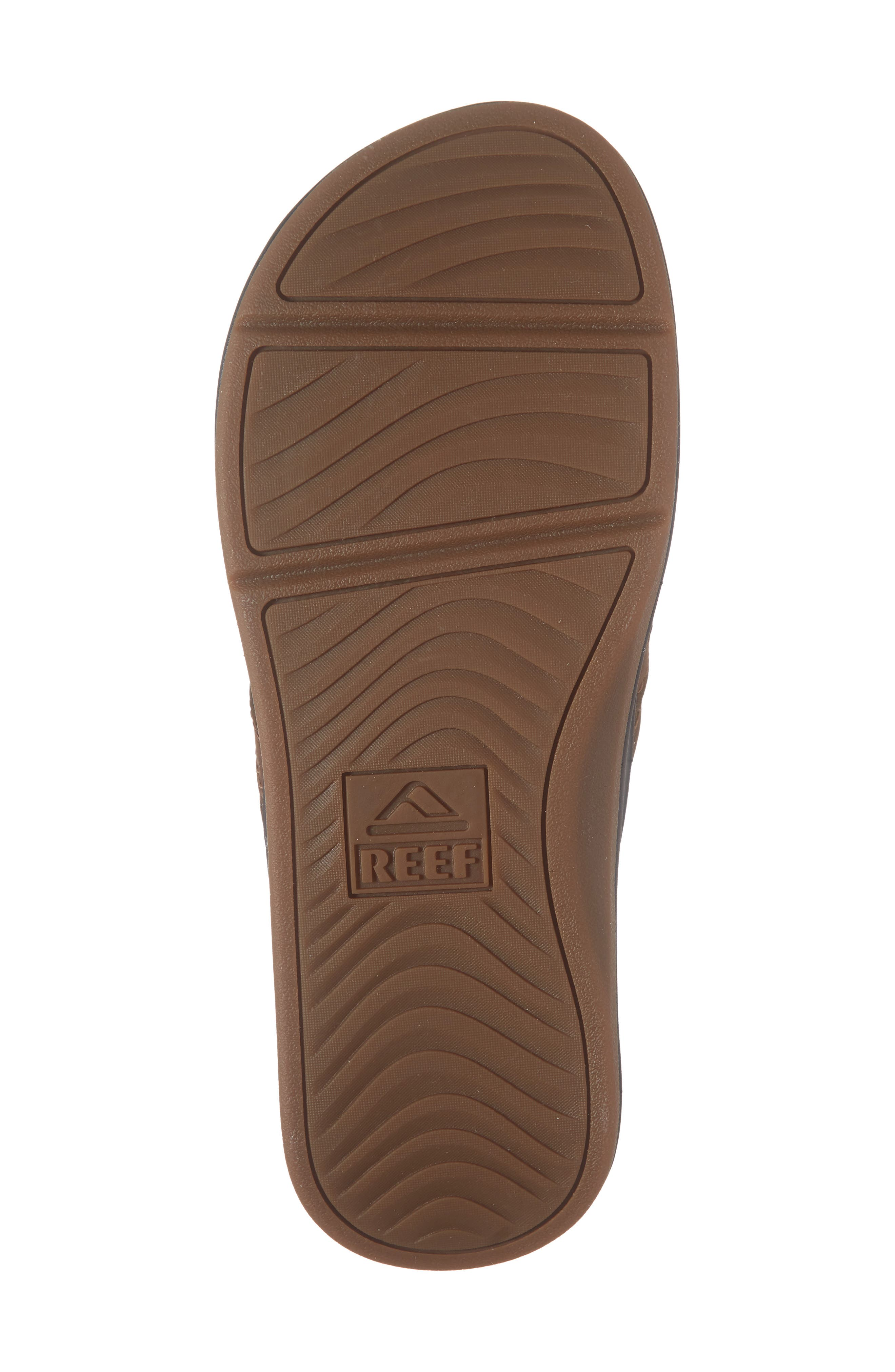 REEF, Ortho Bounce Coast Flip Flop, Alternate thumbnail 6, color, BROWN