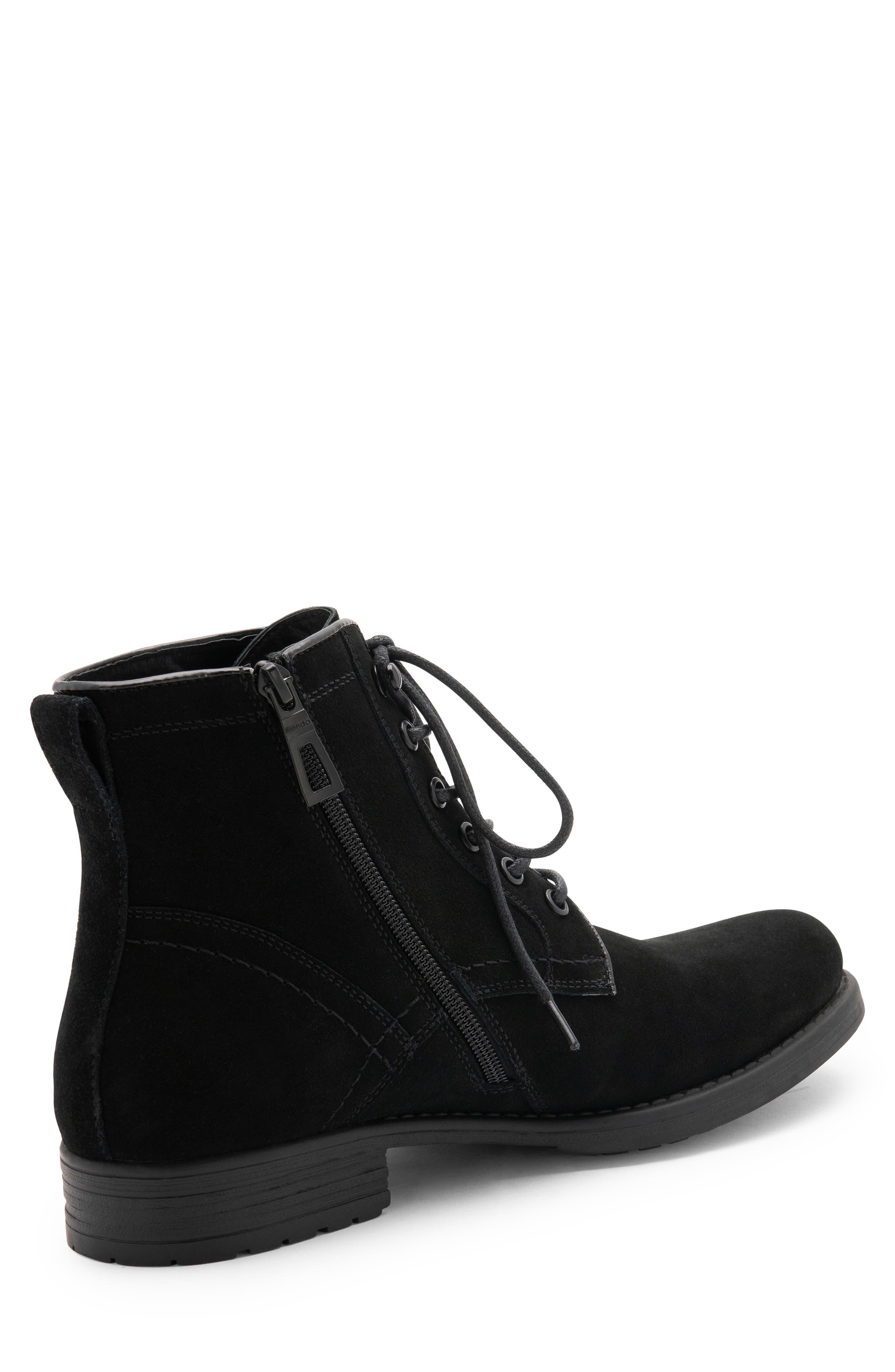 BLONDO, Peter Waterproof Plain Toe Boot, Alternate thumbnail 8, color, BLACK SUEDE
