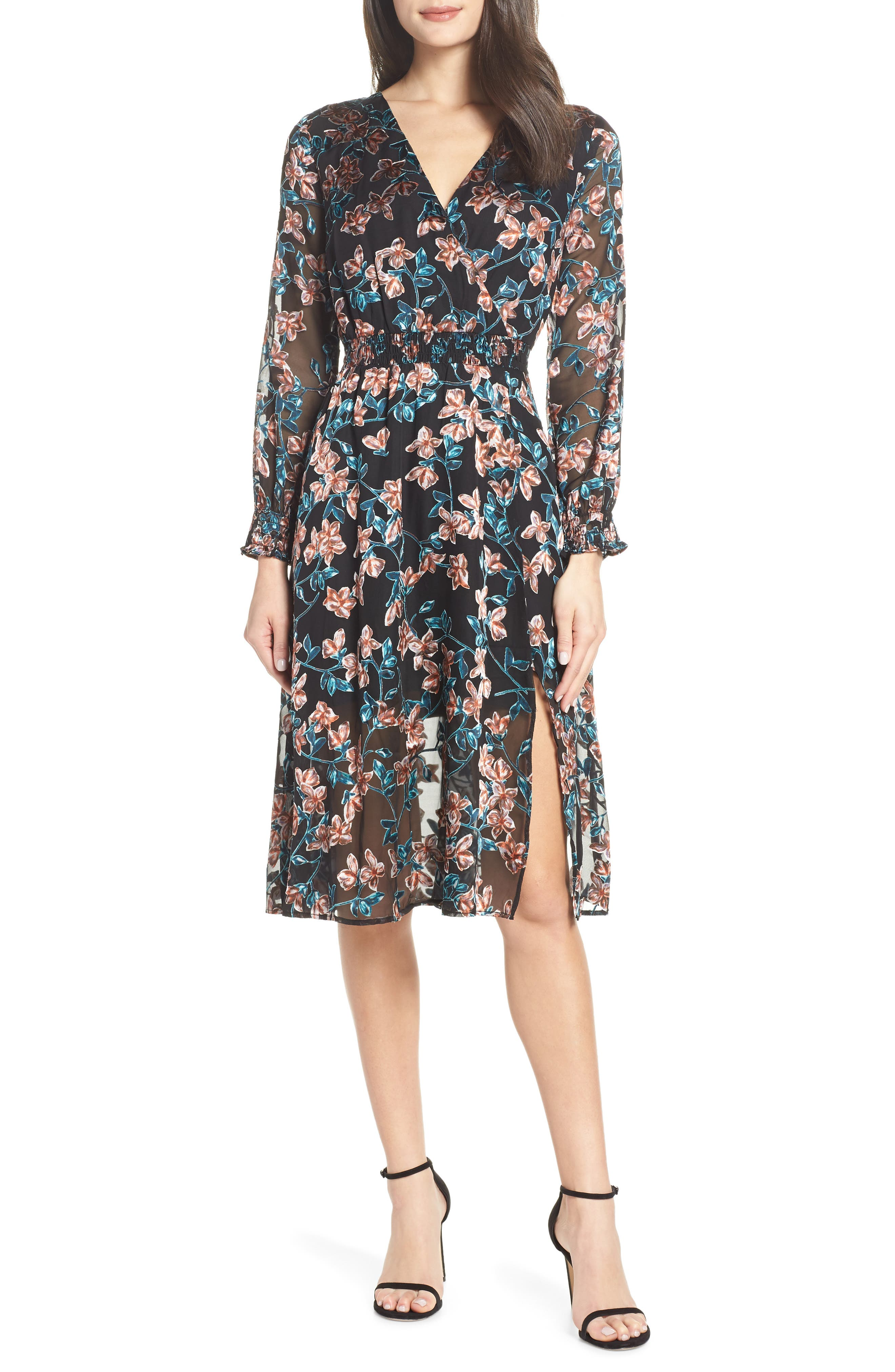 ALI & JAY, Treat Me Like a Lady Floral Dress, Main thumbnail 1, color, 001