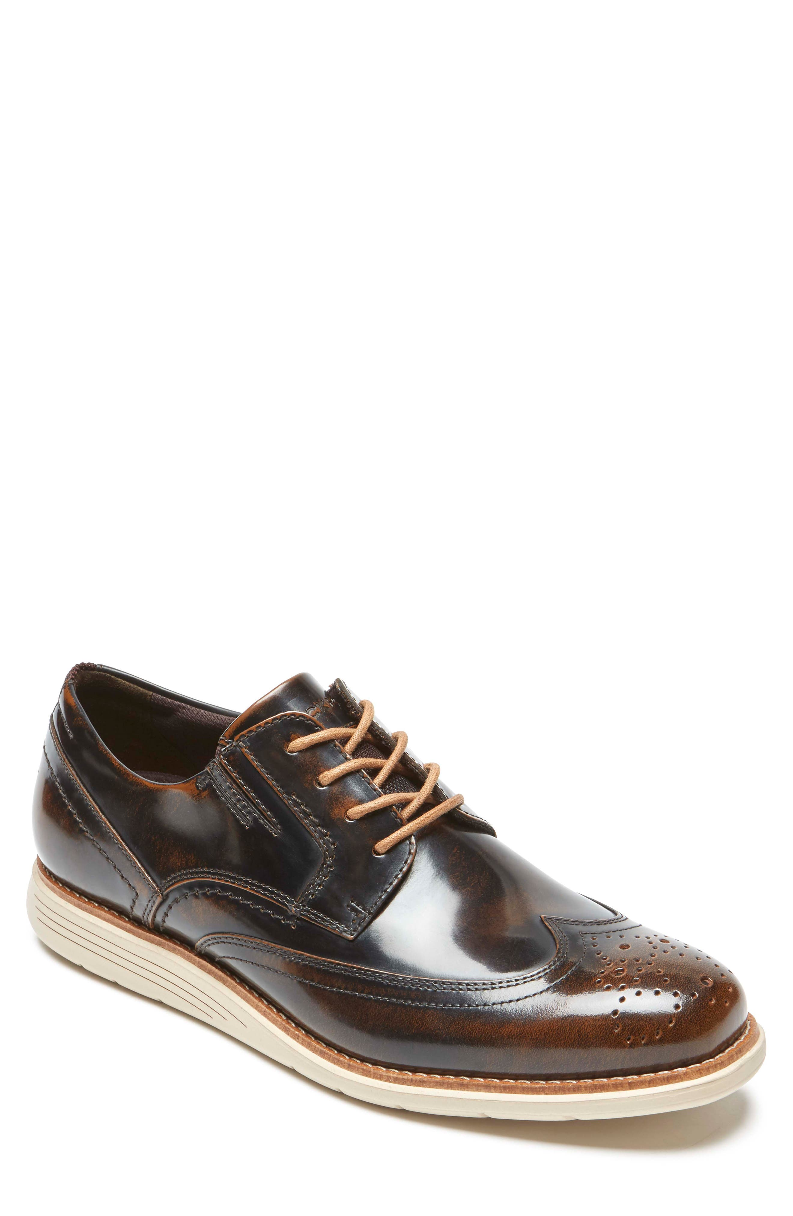 ROCKPORT, Total Motion Sport Wingtip Derby, Main thumbnail 1, color, DARK BROWN LEATHER