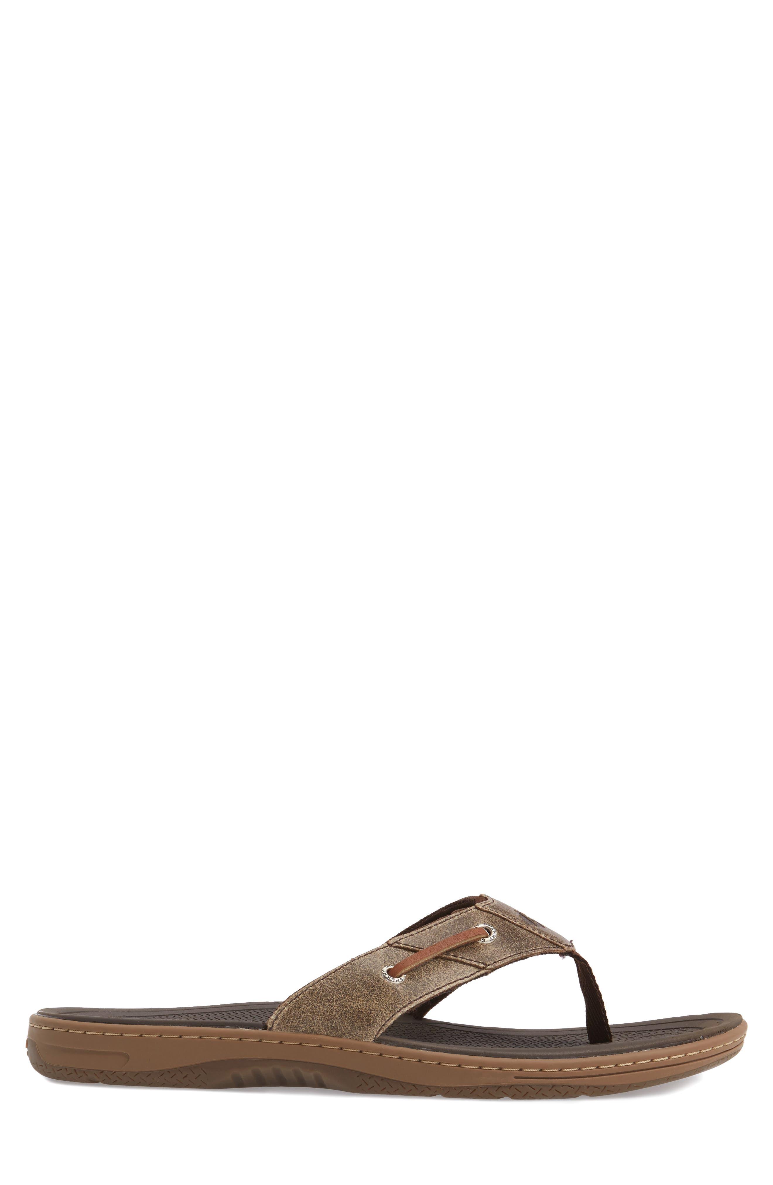 SPERRY, 'Baitfish' Sandal, Alternate thumbnail 3, color, BROWN/BROWN