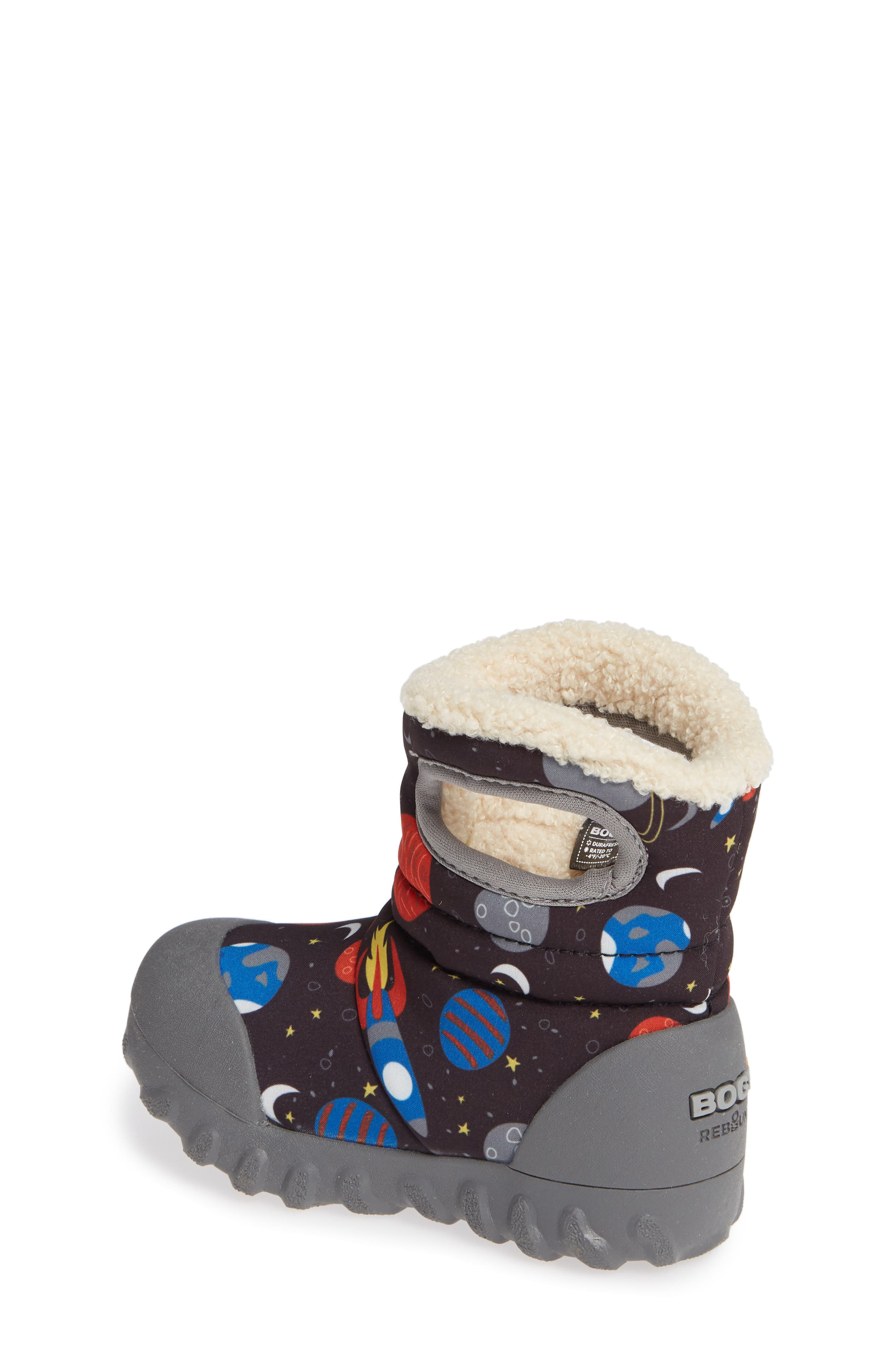 BOGS, B-MOC Space Waterproof Insulated Faux Fur Boot, Alternate thumbnail 2, color, BLACK MULTI