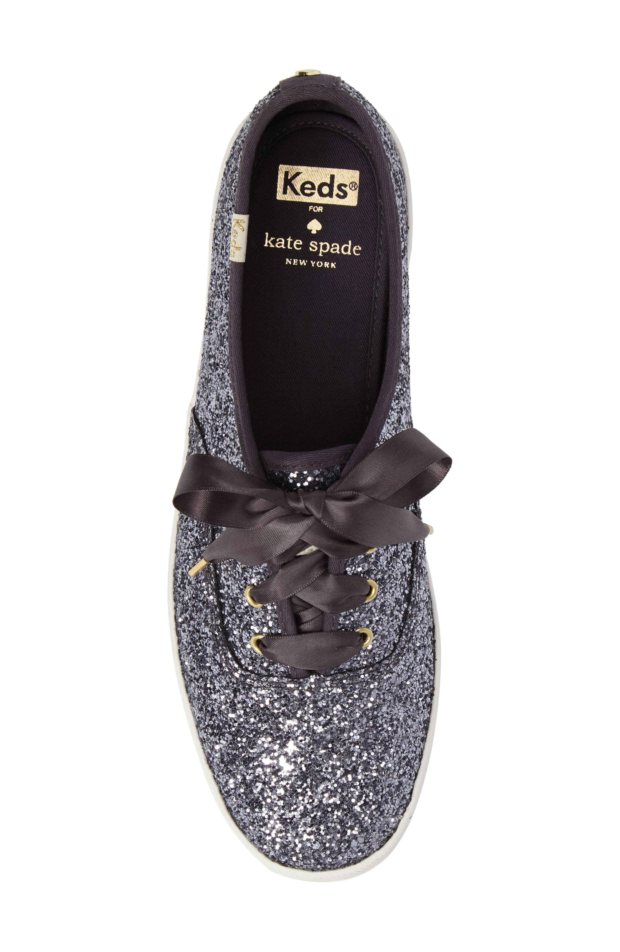 KEDS<SUP>®</SUP> FOR KATE SPADE NEW YORK, glitter sneaker, Alternate thumbnail 5, color, PEWTER