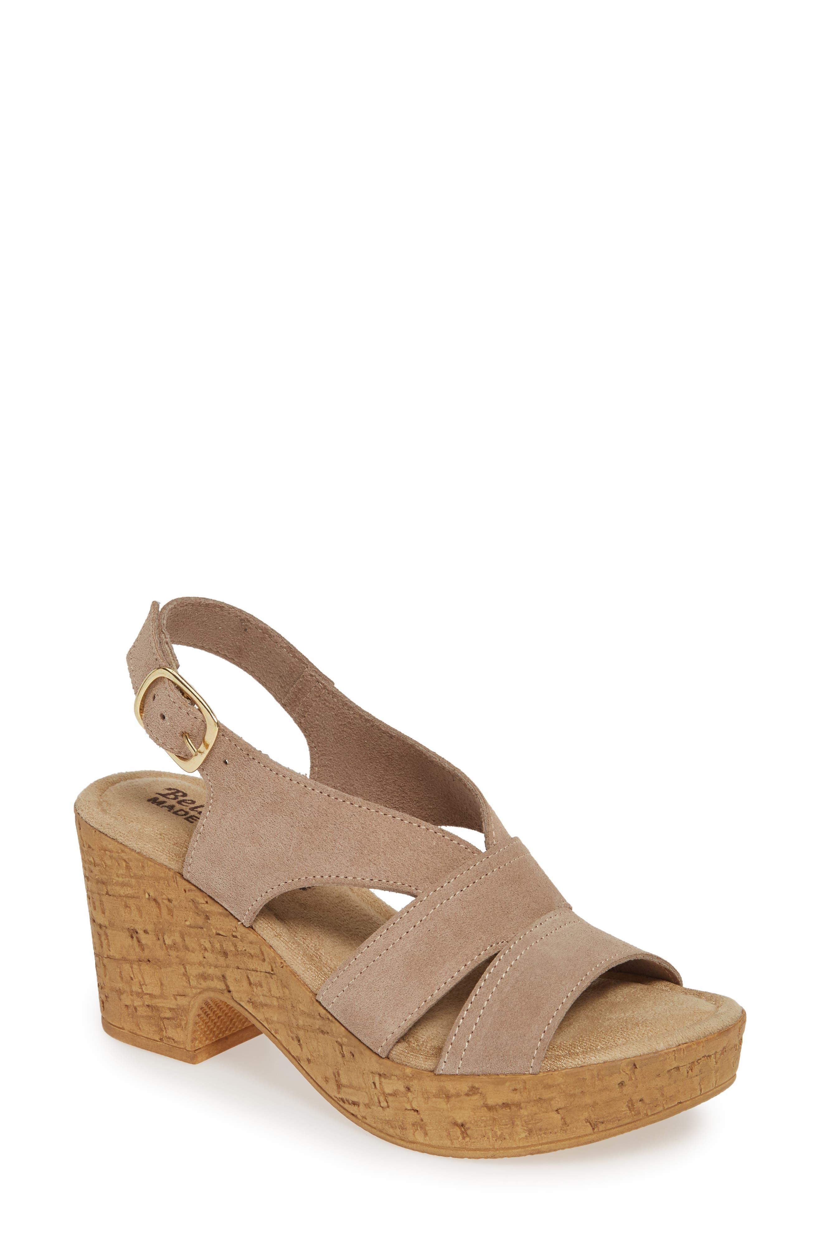 Bella Vita Jaz Platform Sandal N - Beige