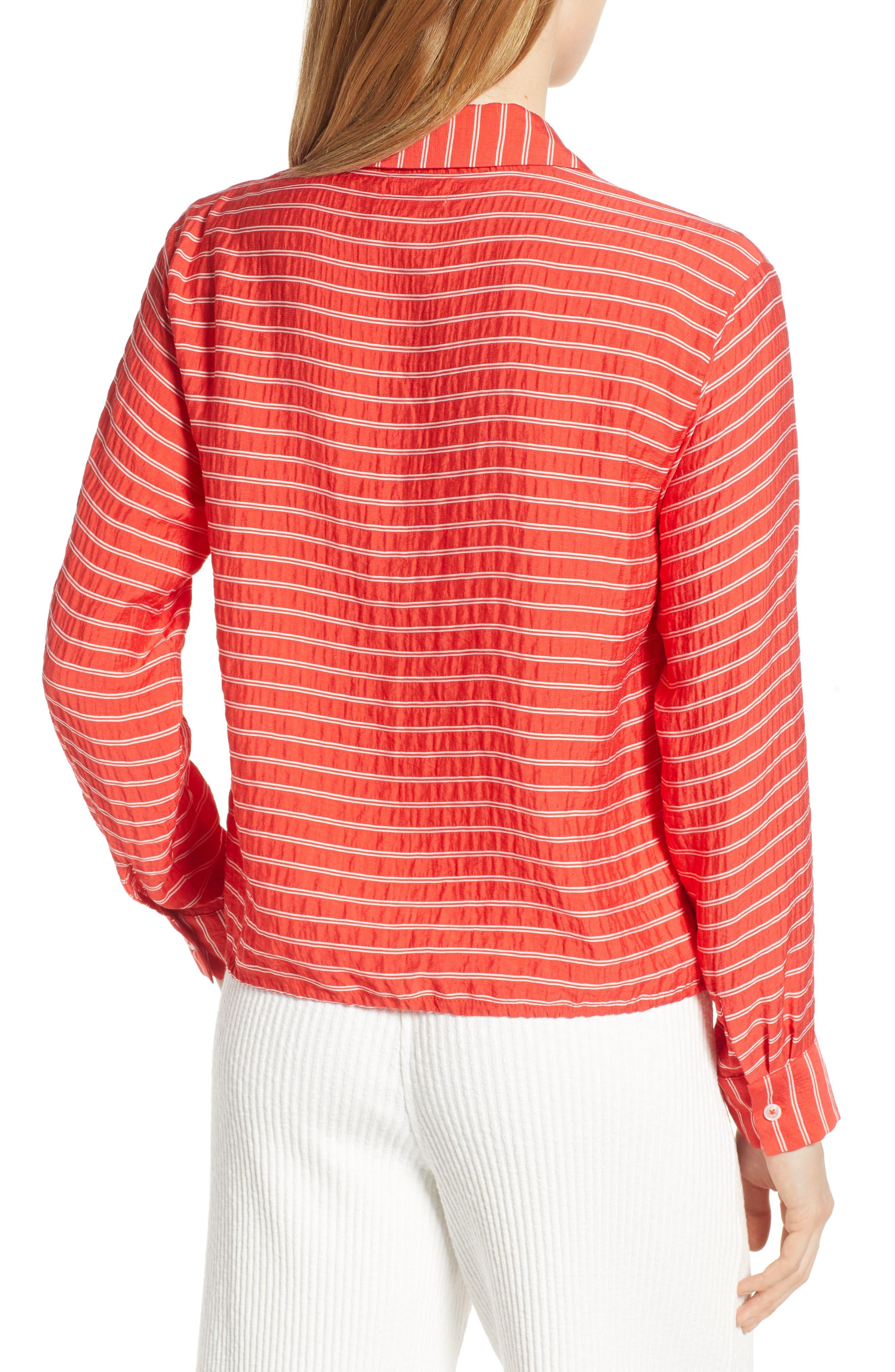 LOU & GREY, Sunny Stripe Drawstring Waist Blouse, Alternate thumbnail 2, color, 600