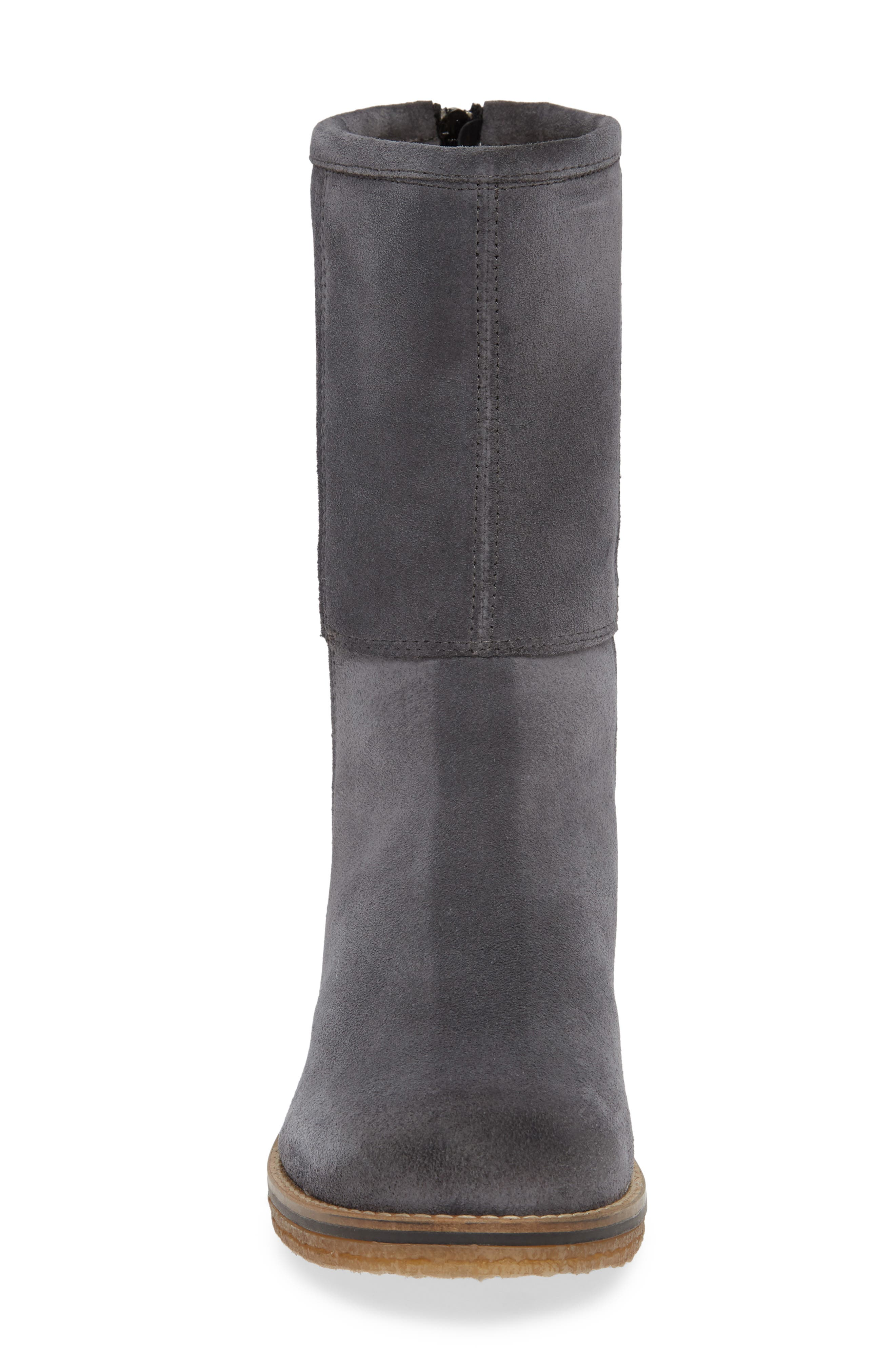 BOS. & CO., Bell Waterproof Winter Boot, Alternate thumbnail 4, color, GREY SUEDE