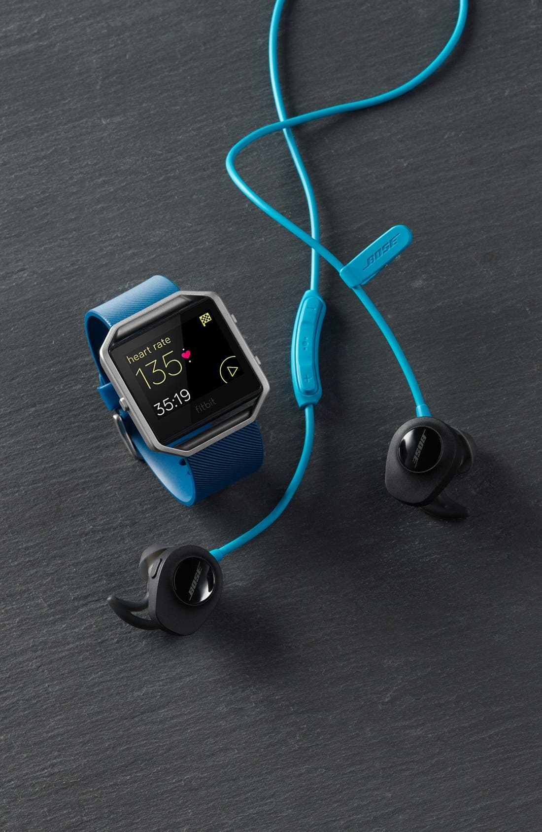 BOSE<SUP>®</SUP>, SoundSport<sup>®</sup> Wireless Headphones, Alternate thumbnail 5, color, AQUA