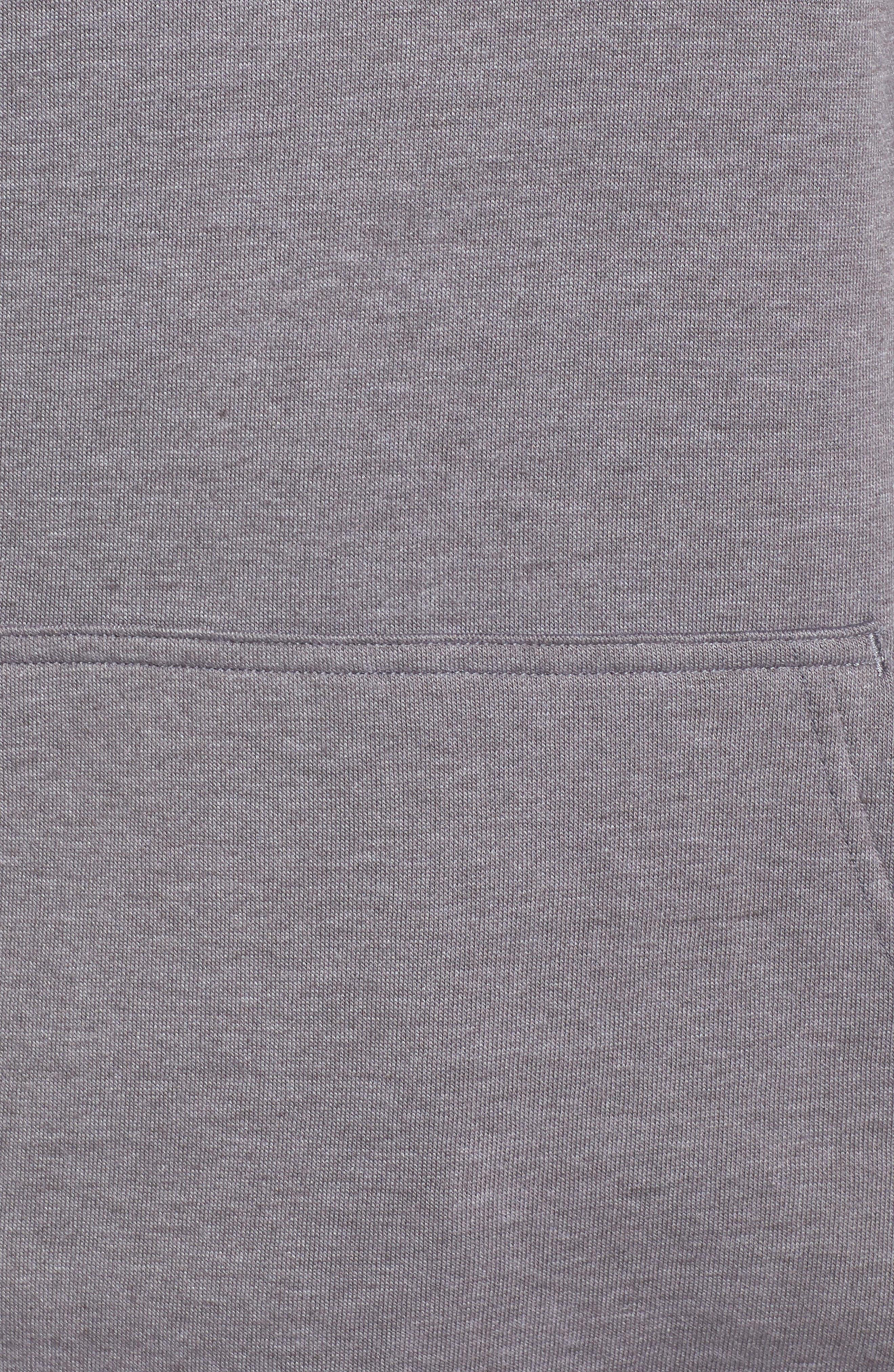 THE NORTH FACE, Half Dome Pullover, Alternate thumbnail 6, color, TNF GREY HEATHER/ TNF BLACK