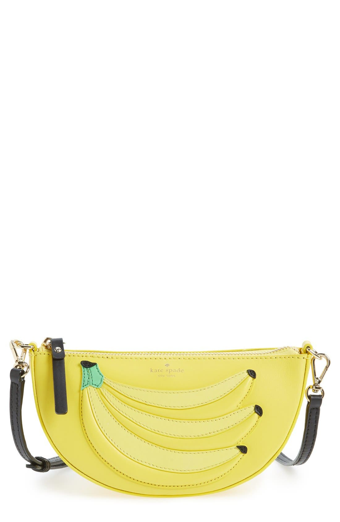 KATE SPADE NEW YORK, 'flights of fancy - bananas' crossbody bag, Main thumbnail 1, color, 700