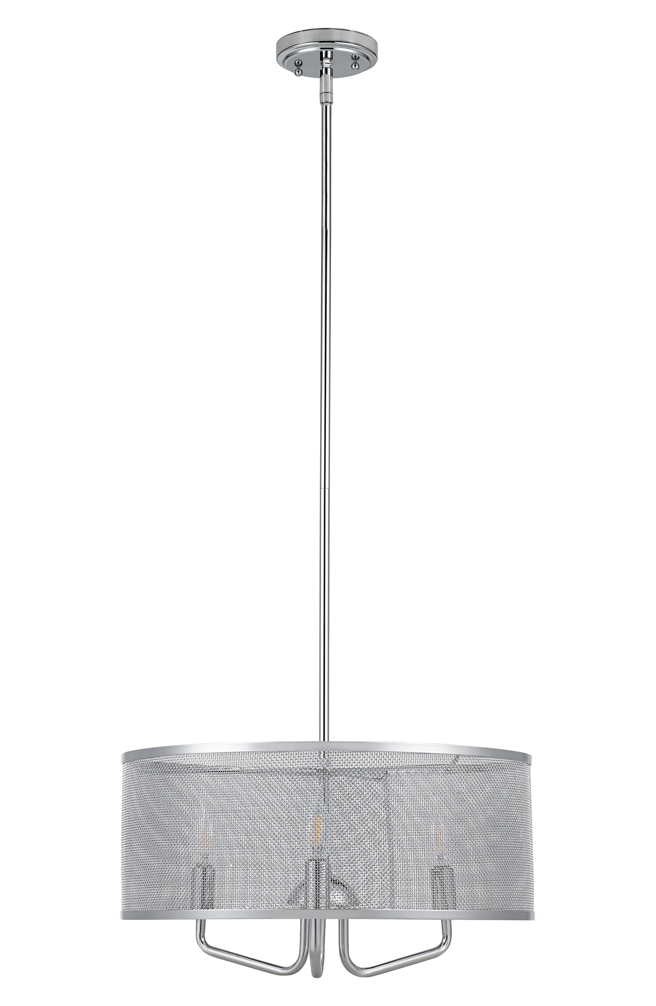 Jalexander Lighting Lynden ThreeLight Mesh Pendant Lamp Size One Size  Metallic