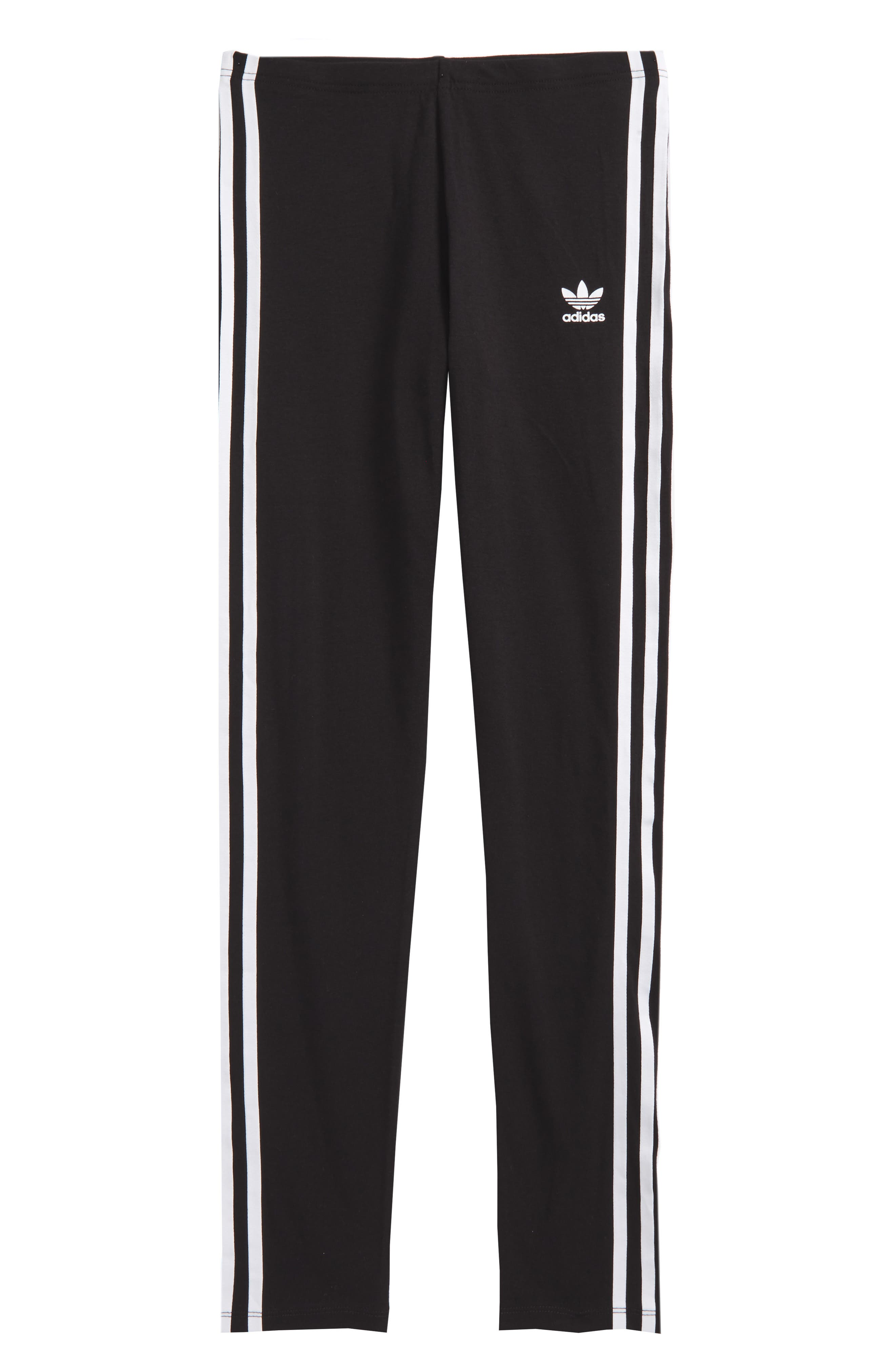 ADIDAS ORIGINALS adidas 3-Stripes Leggings, Main, color, BLACK/ WHITE